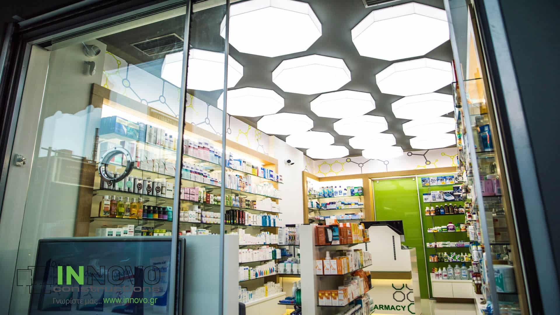 Ανακαίνιση διακόσμηση φαρμακείων Γλυφάδα