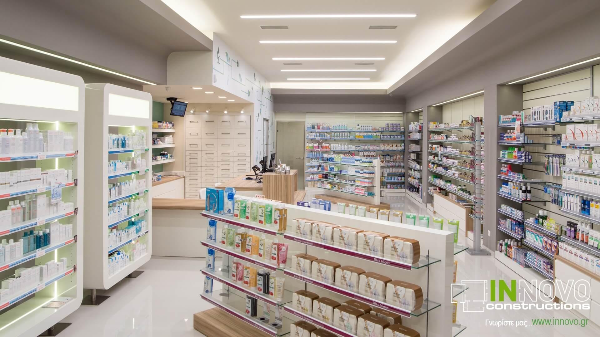 Φωτισμός φαρμακείου Γέρακα