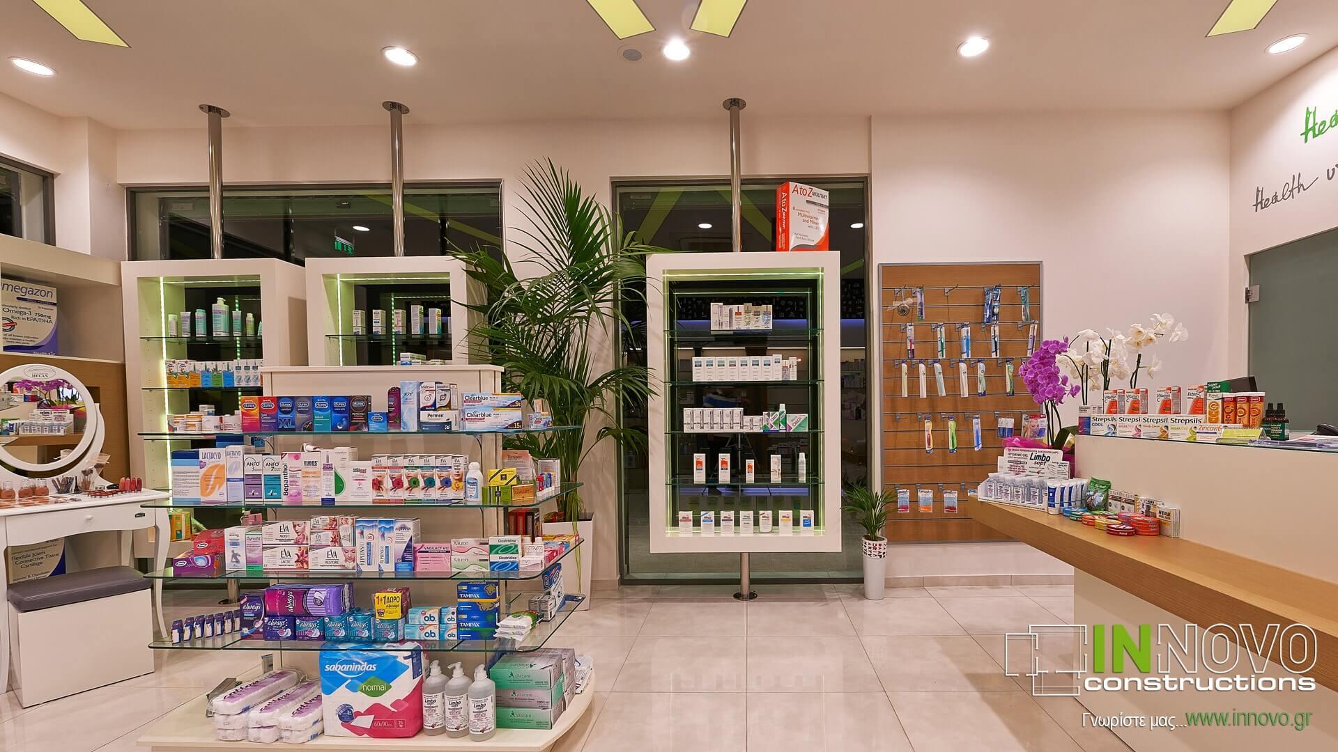 Κατασκευή ανακαίνιση φαρμακείου Βούλα