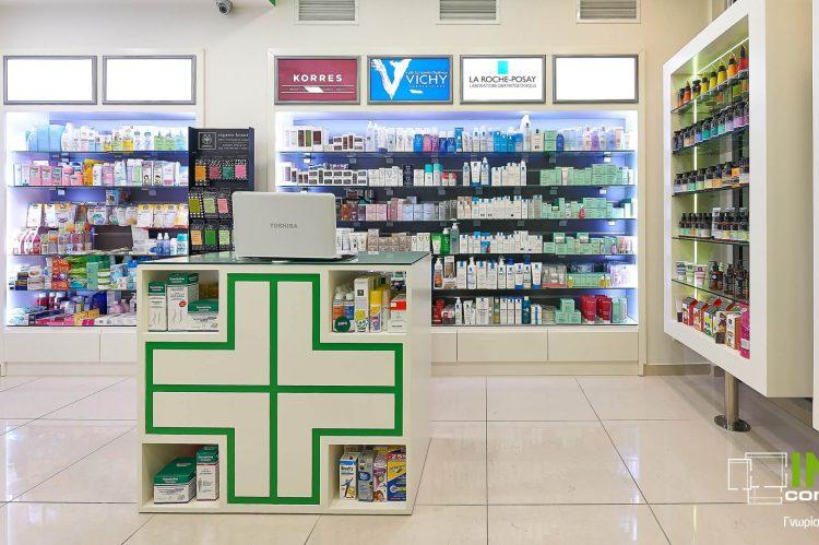 Διακοσμήσεις φαρμακείων στο Κολωνάκι από την Innovo Constructions