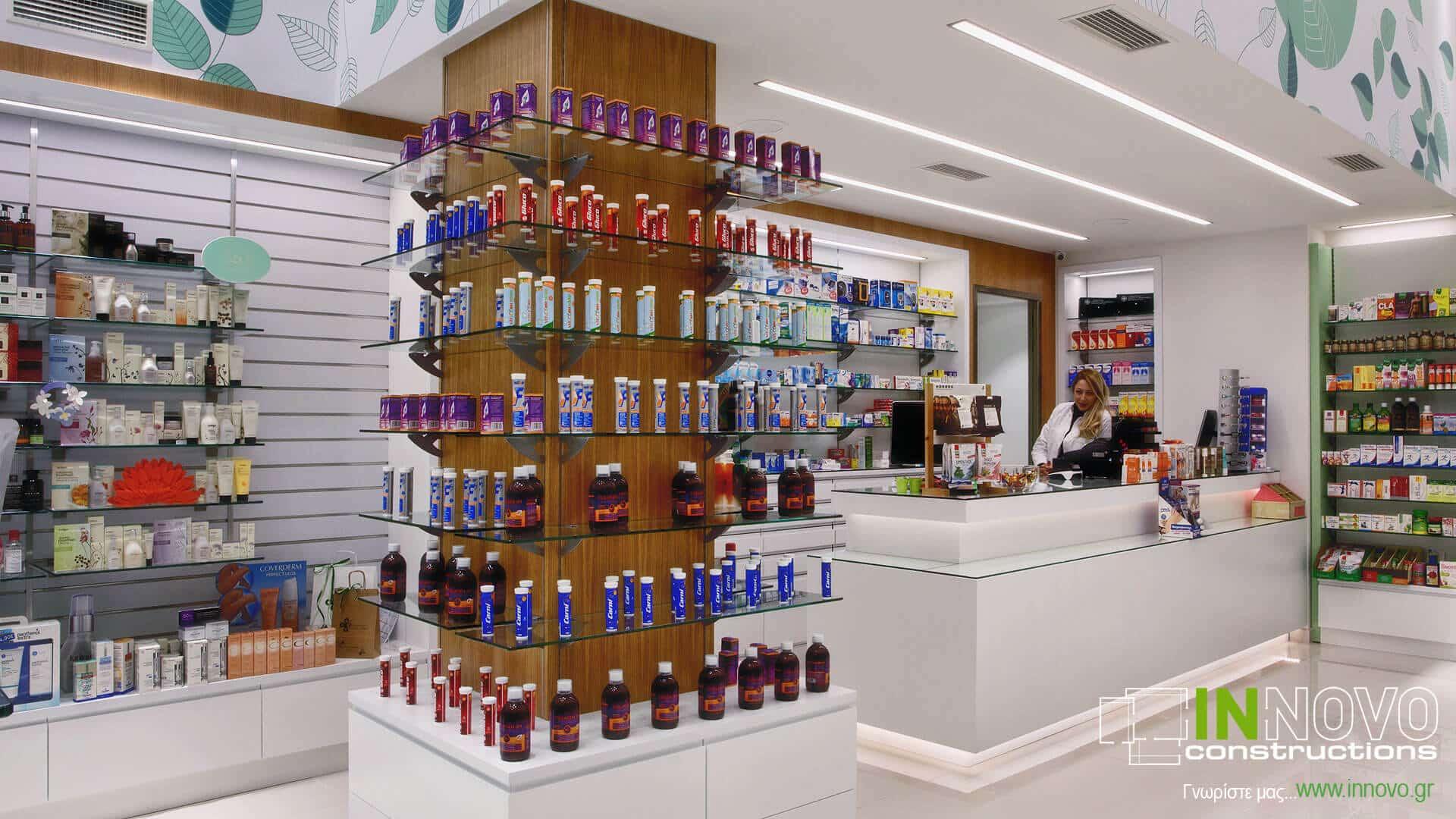 Διακόσμηση φαρμακείου Αργυρούπολη