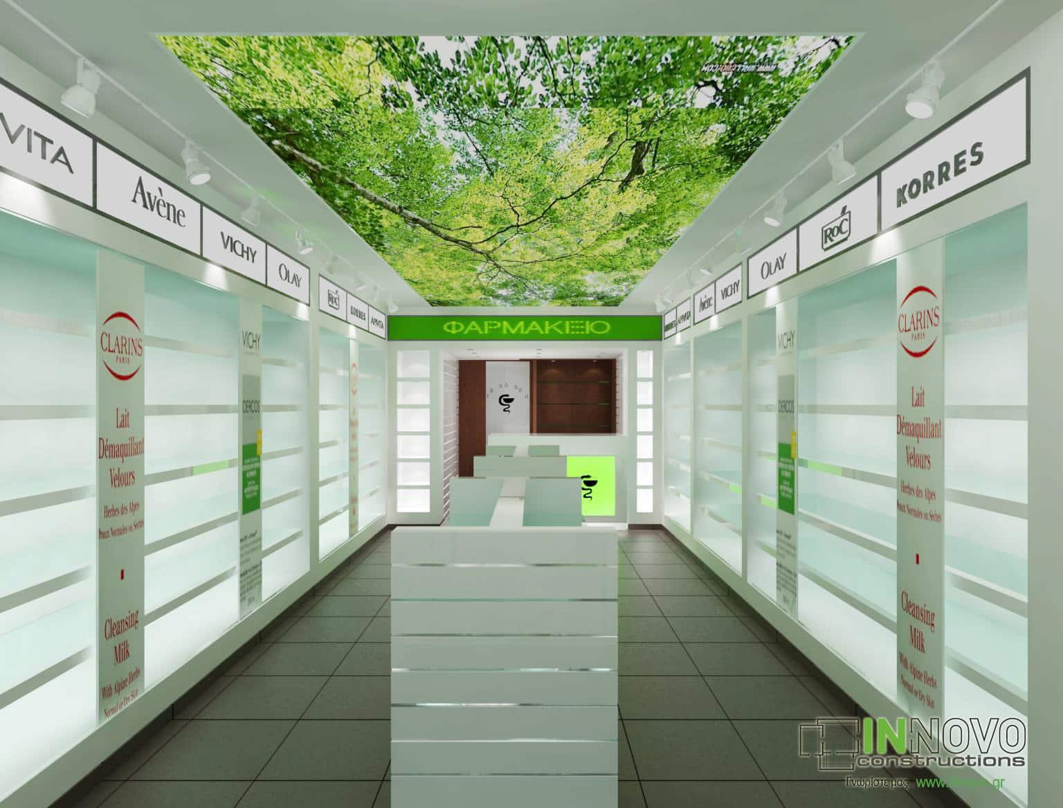 Σχεδιασμός φαρμακείου στο Φάληρο
