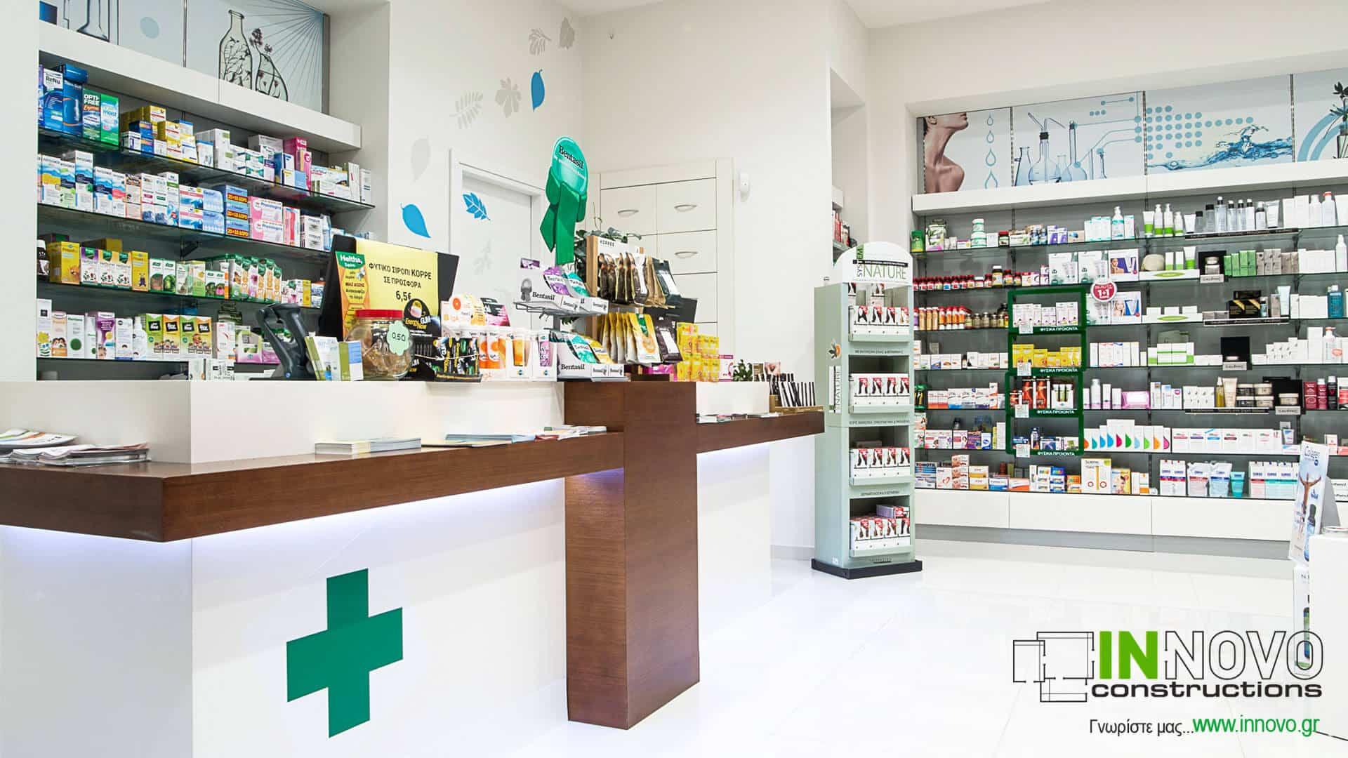 Κατασκευή φαρμακείων Κορωπί