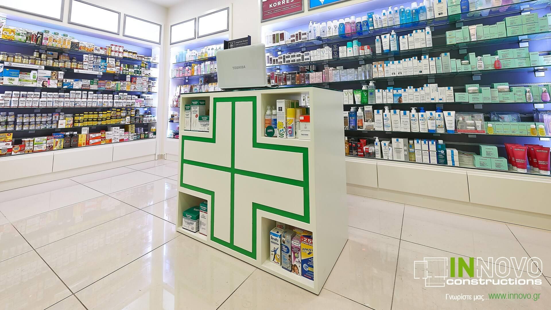 Κατασκευές φαρμακείων Κολωνάκι