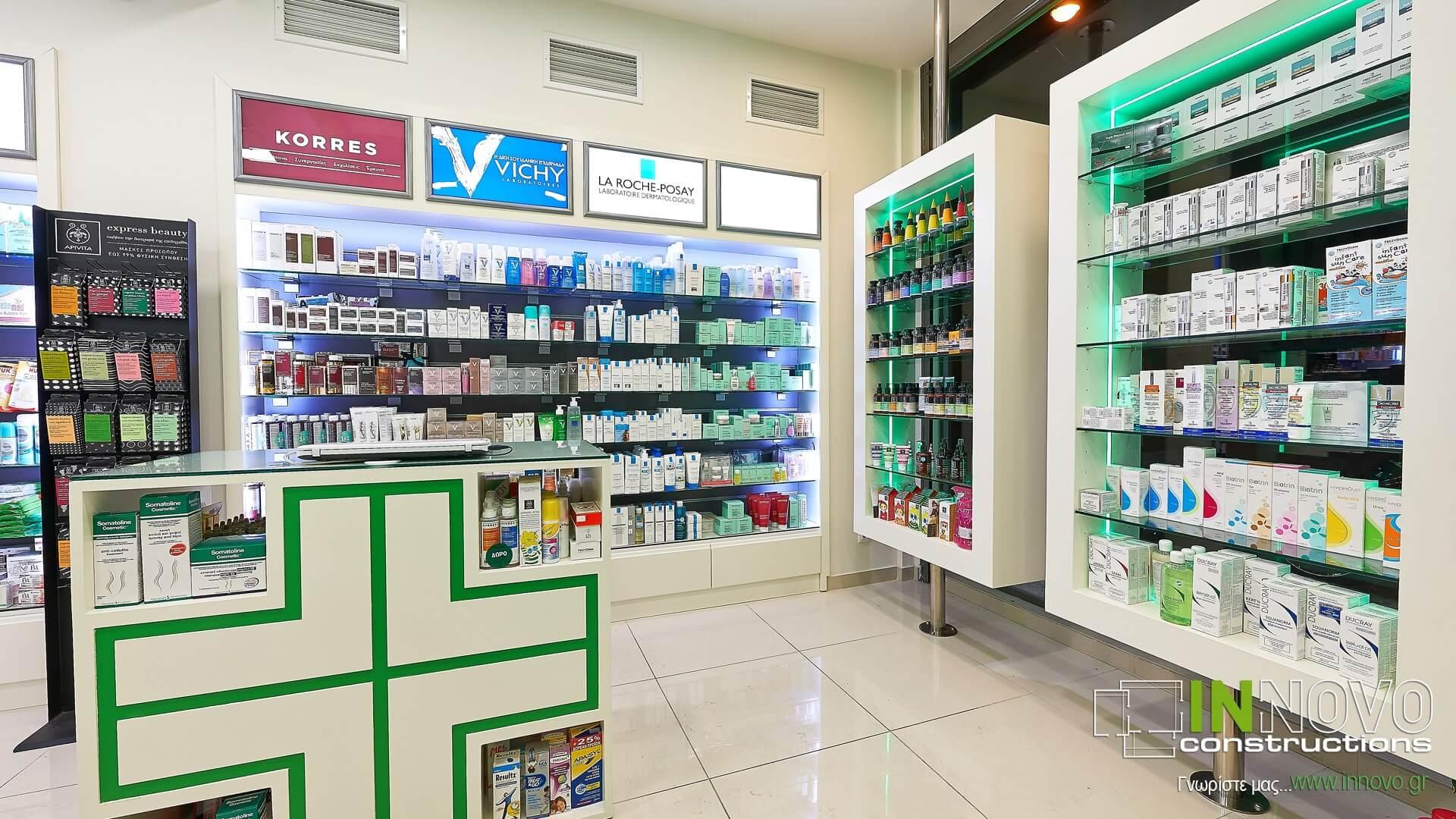 Ανακαίνιση φαρμακείου Κολωνάκι