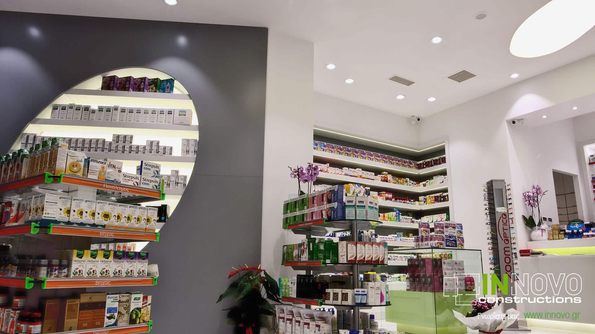Σχεδιασμός ανακαίνισης Φαρμακείου στη Νέα Ερυθραία