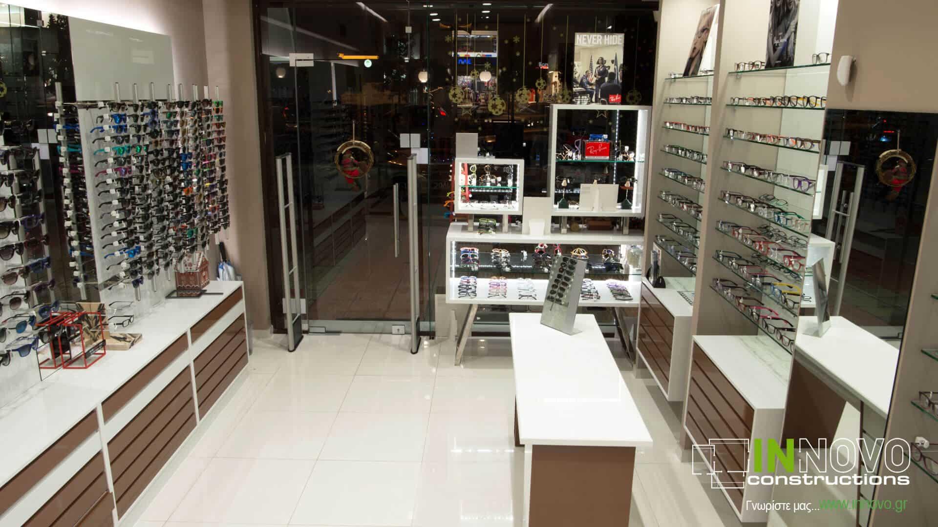Μελέτη κατασκευής καταστήματος οπτικών στο Γαλάτσι από την Innovo