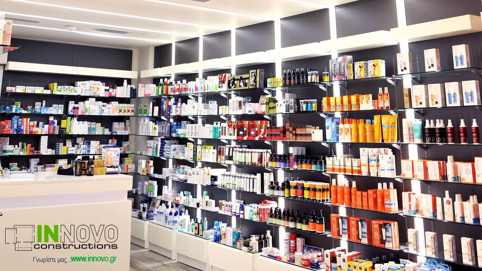 Κατασκευή φαρμακείου πλατεία Μαβίλης