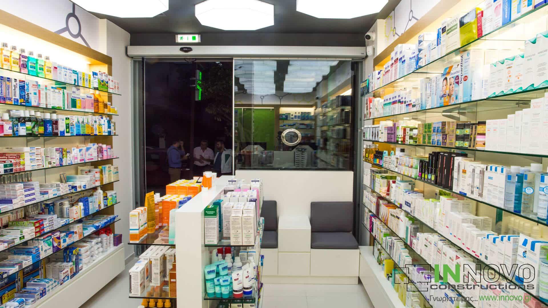 Κατασκευή φαρμακείου Γλυφάδα
