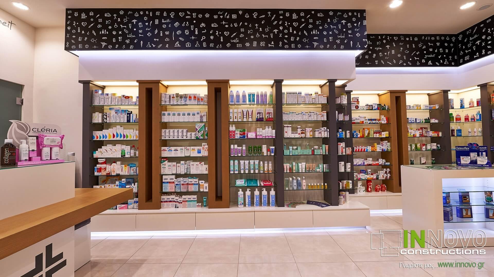 Ανακαίνιση κατασκευή φαρμακείου Βούλα