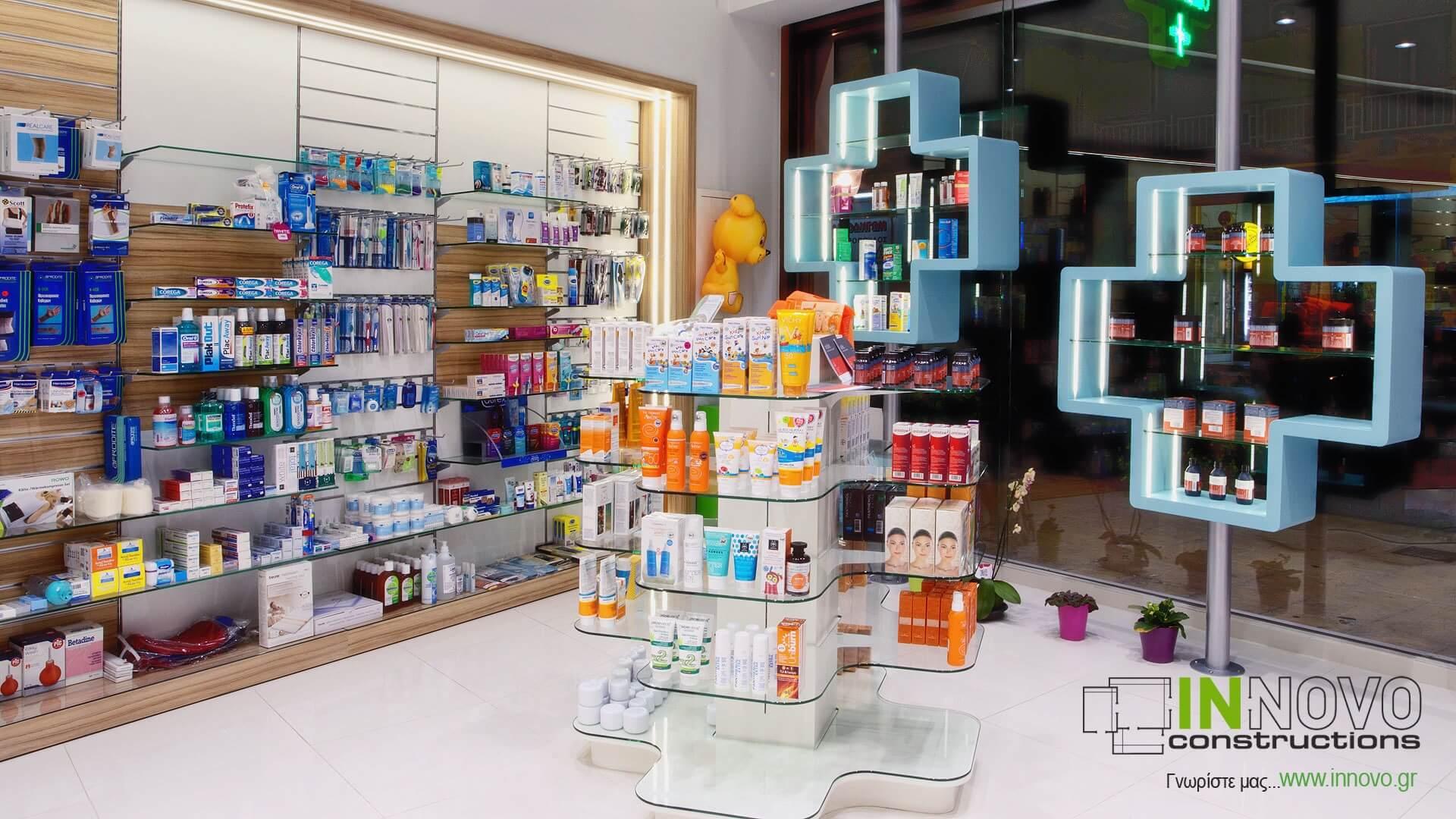 Γόνδολα φαρμακείου G-Diodora Φαρμακείο Ίλιον