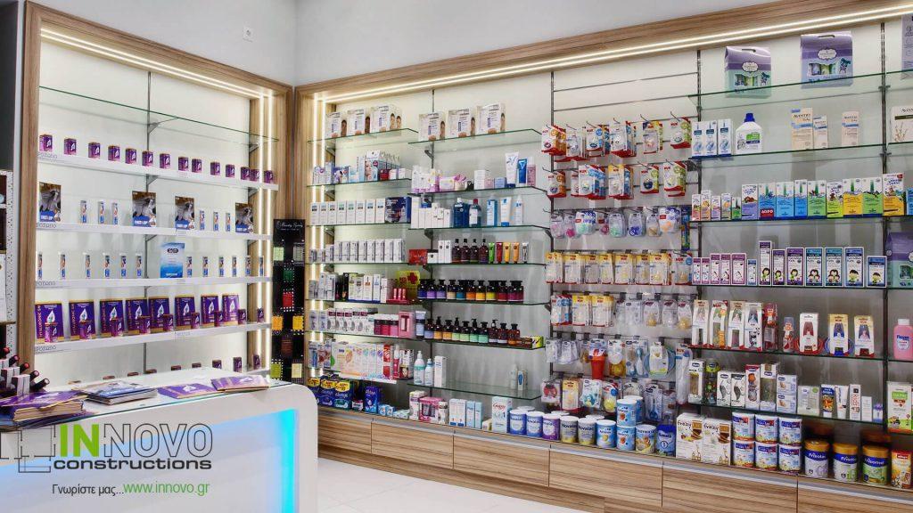 Ανακαίνιση Φαρμακείου στο Ίλιον από την Innovo Constructions