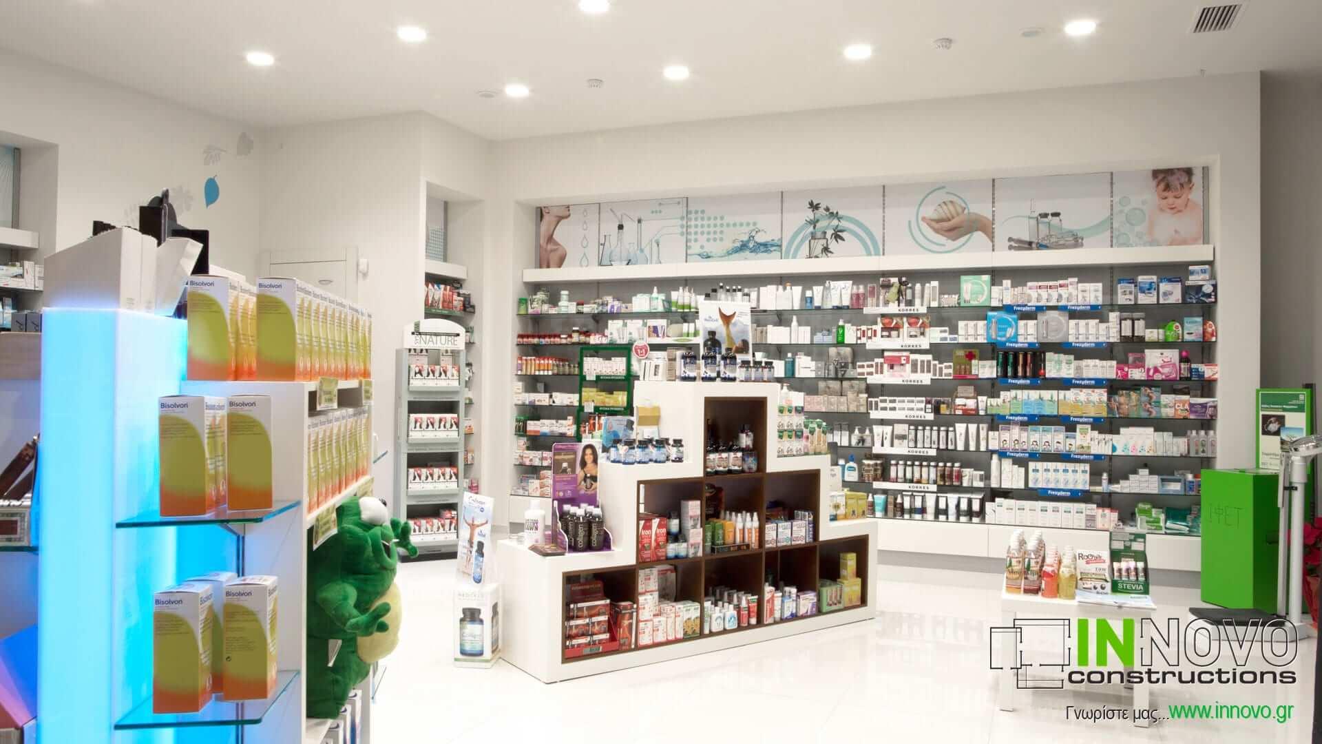 Ανακαίνιση φαρμακείου Κορωπί