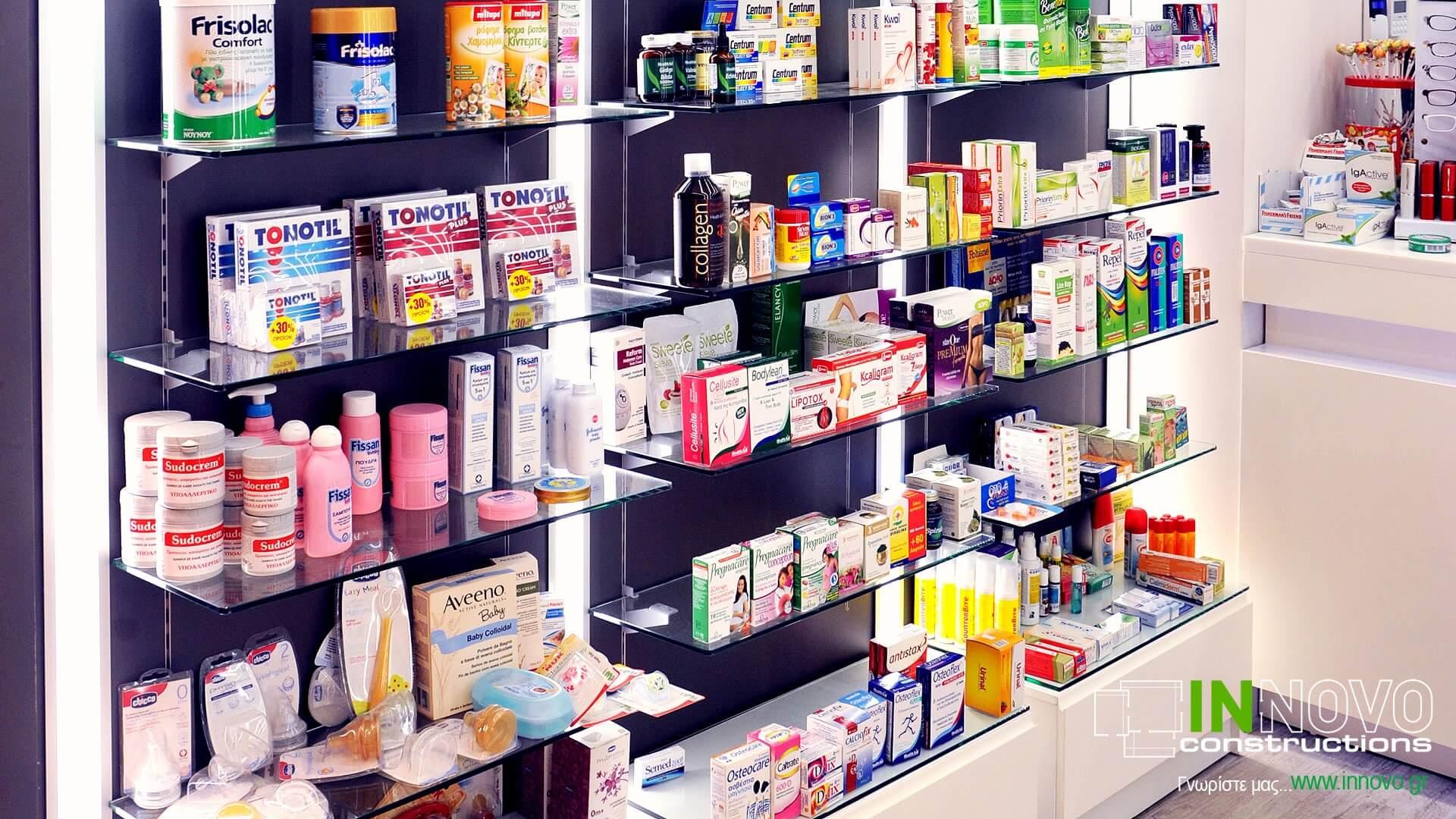 Διακόσμηση φαρμακείου πλατεία Μαβίλης