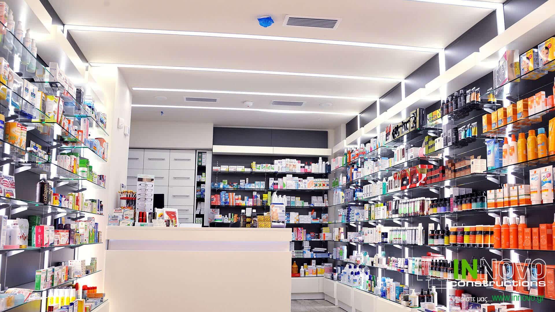 Σχεδιασμός φαρμακείου πλατεία Μαβίλης