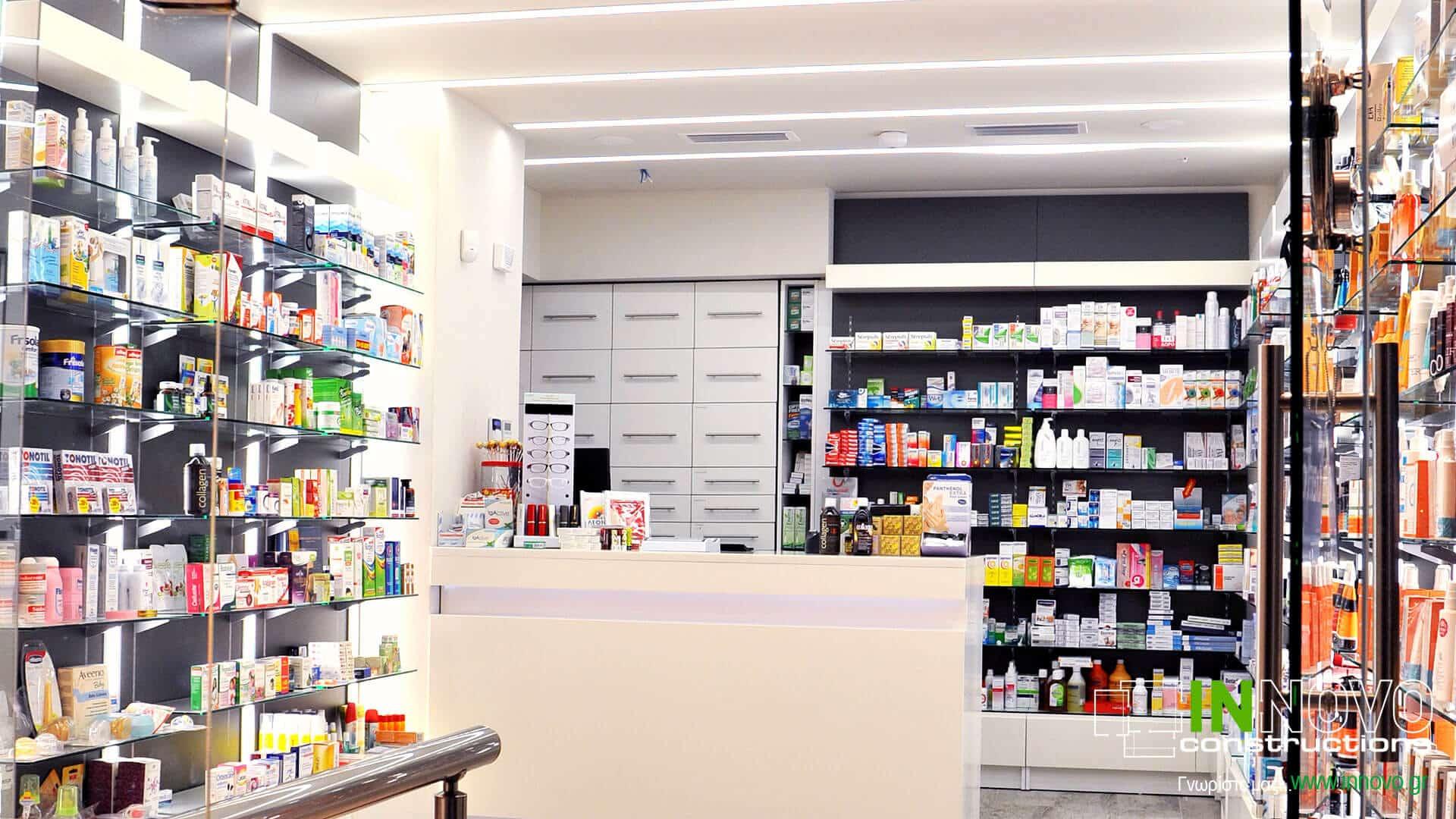 Πλατεία Μαβίλης ανακαίνιση φαρμακείου