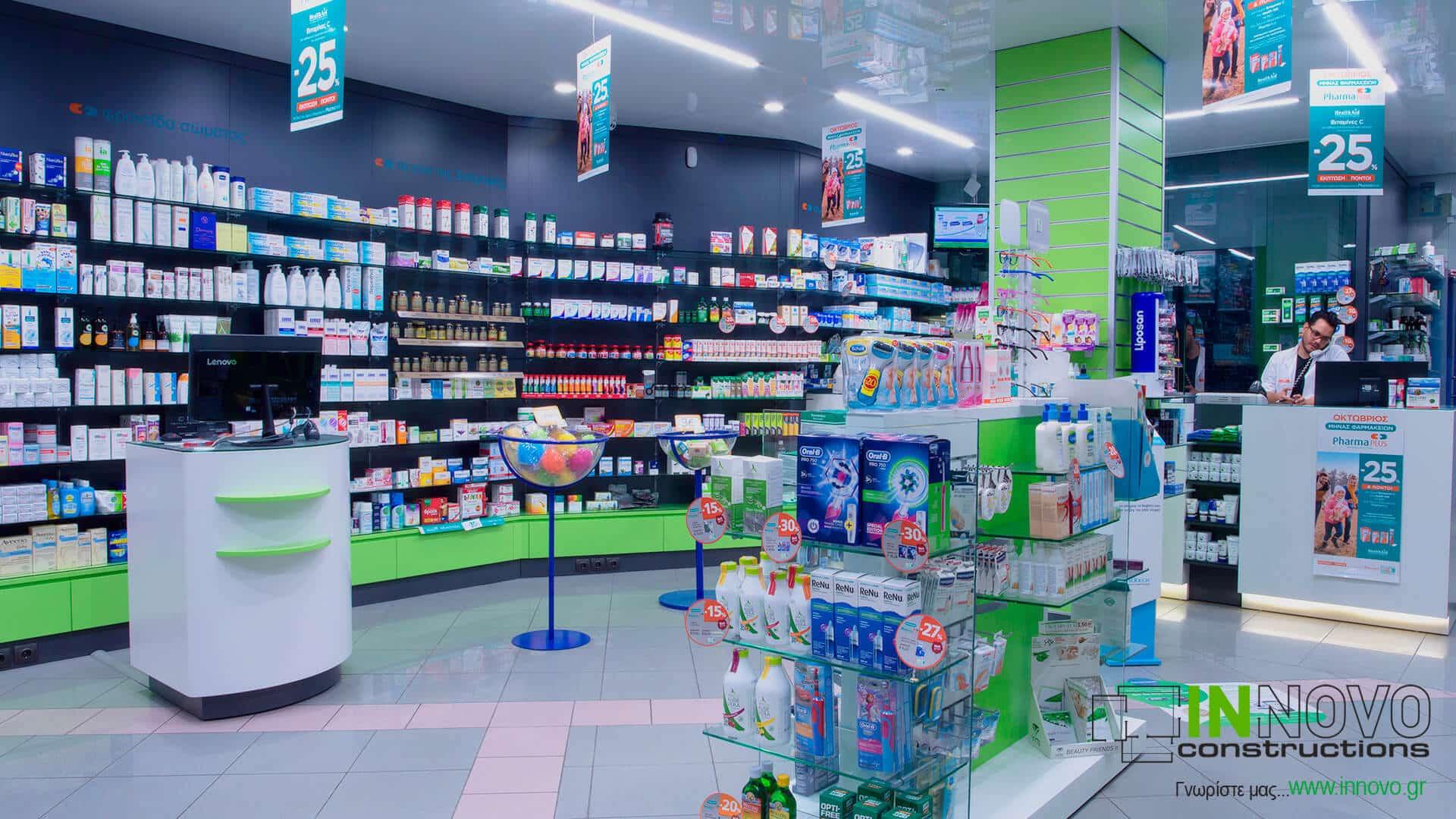 Κατασκευή και ανακαίνιση φαρμακείου στην Καλλιθέα