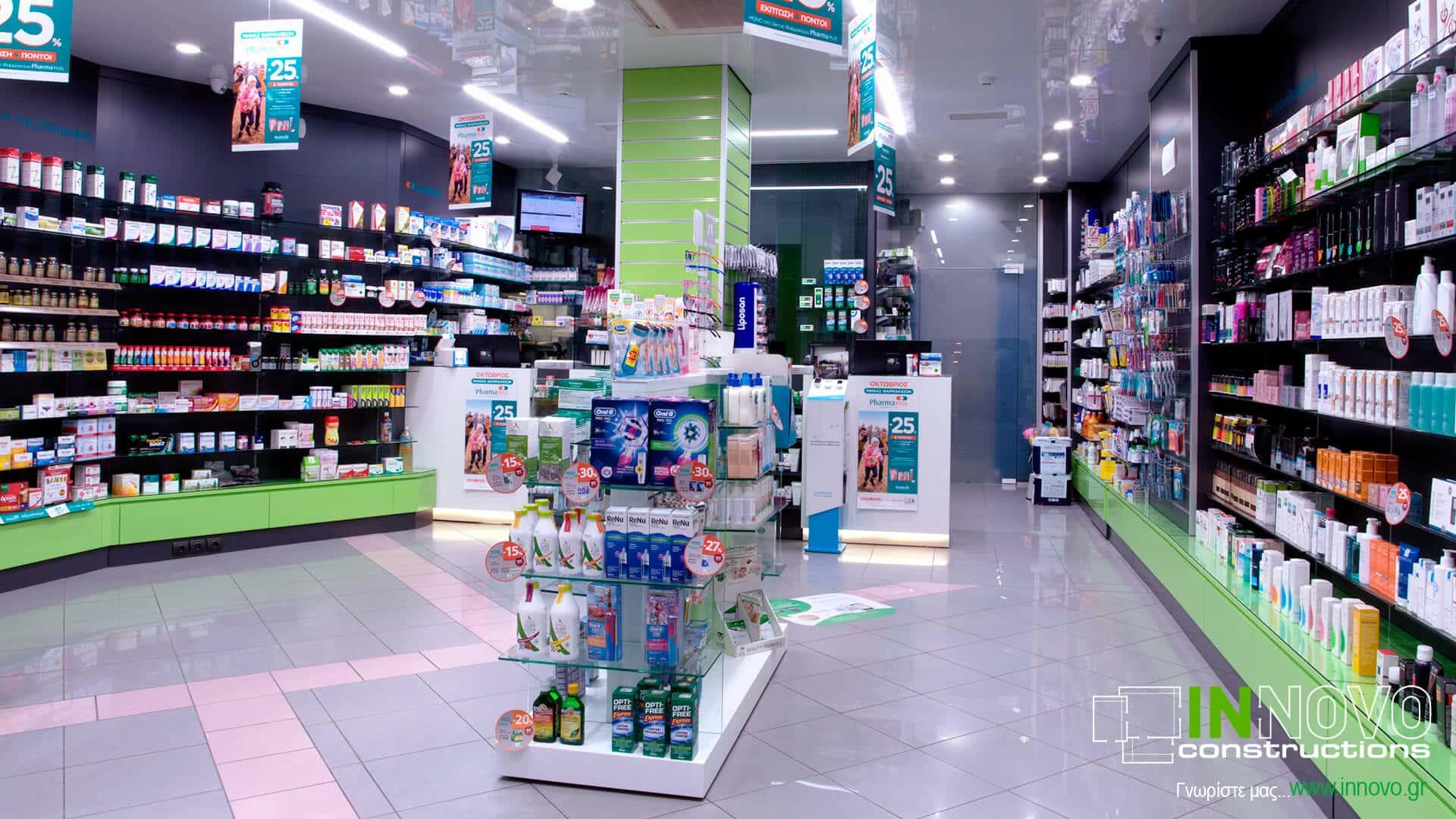 Κατασκευή Φαρμακείου στην Καλλιθέα - Δημοσθένους από την Innovo