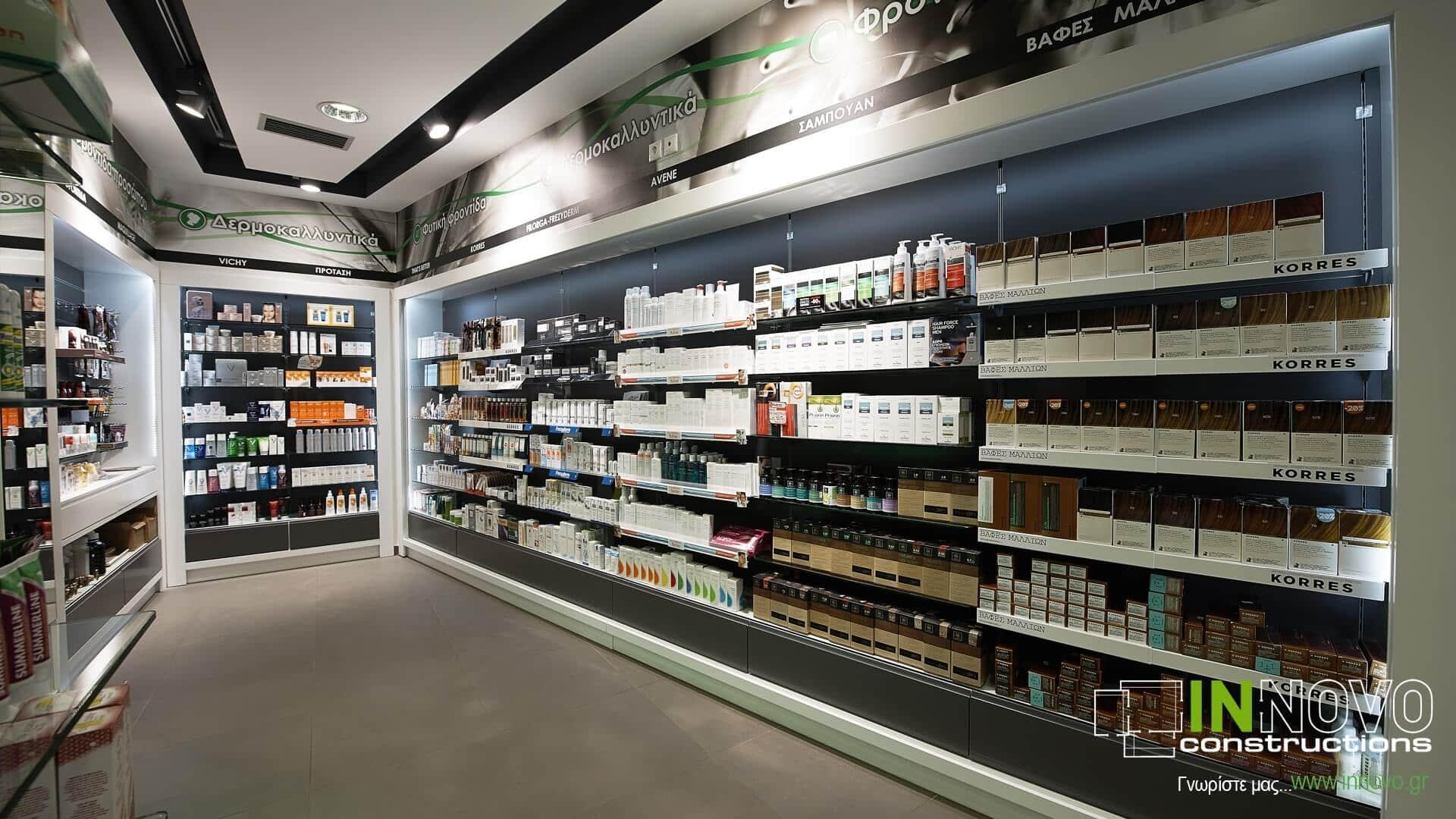 Ανακαινίσεις κατασκευές φαρμακείων Μέγαρα