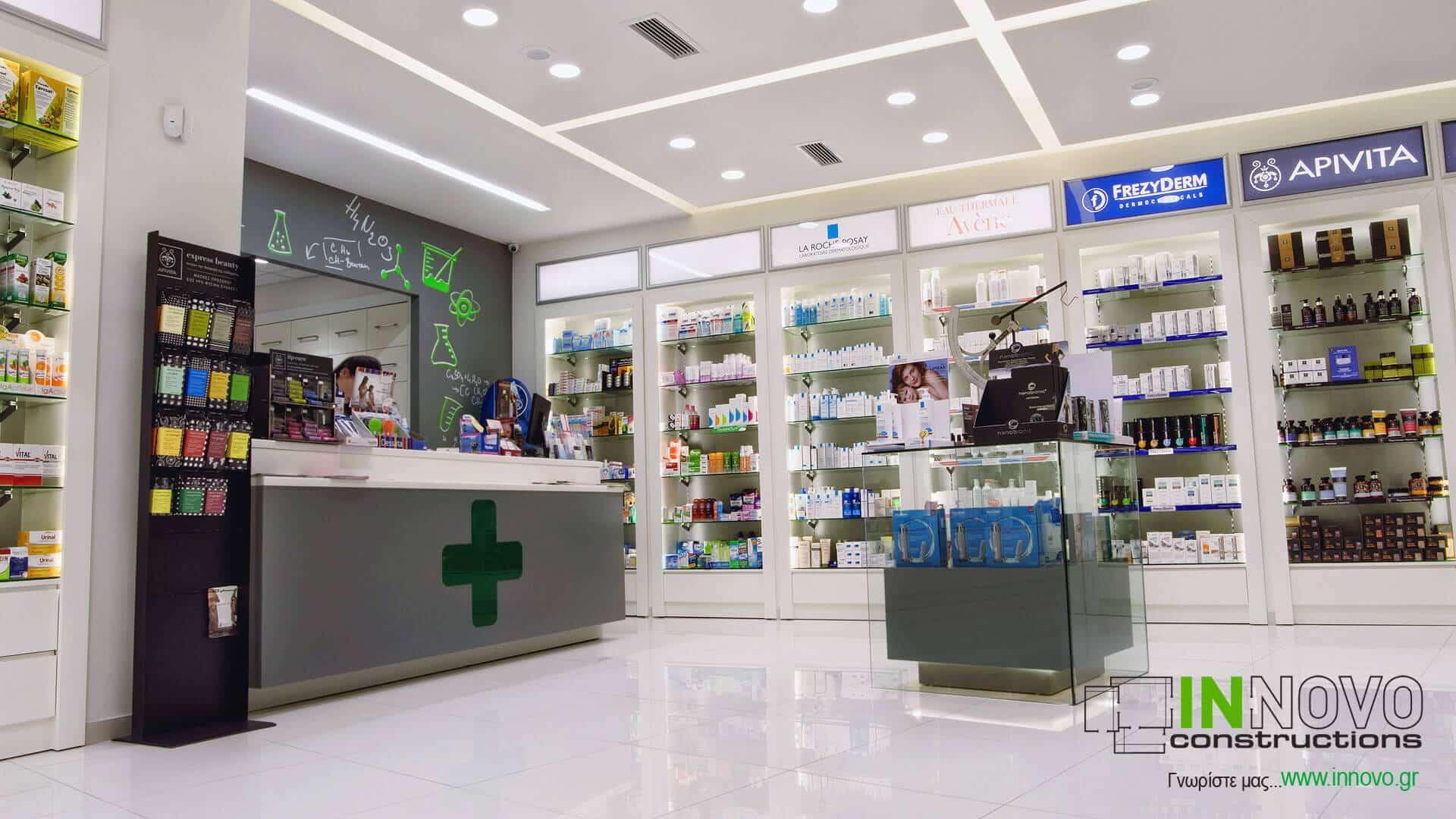 Κατασκευή Φαρμακείου στο Γέρακα από την Innovo