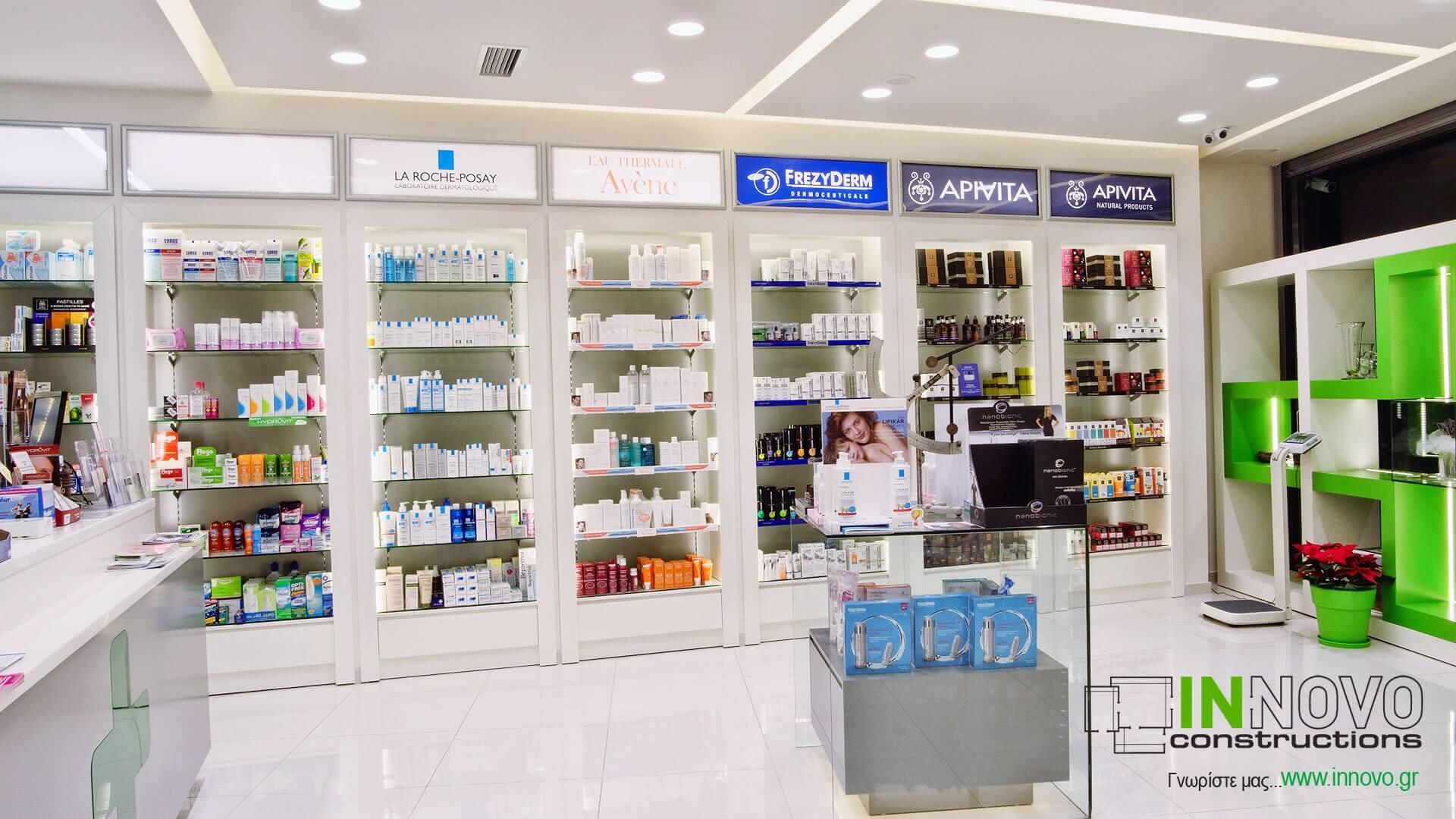 Ανακαίνιση κατασκευή φαρμακείου Γέρακα