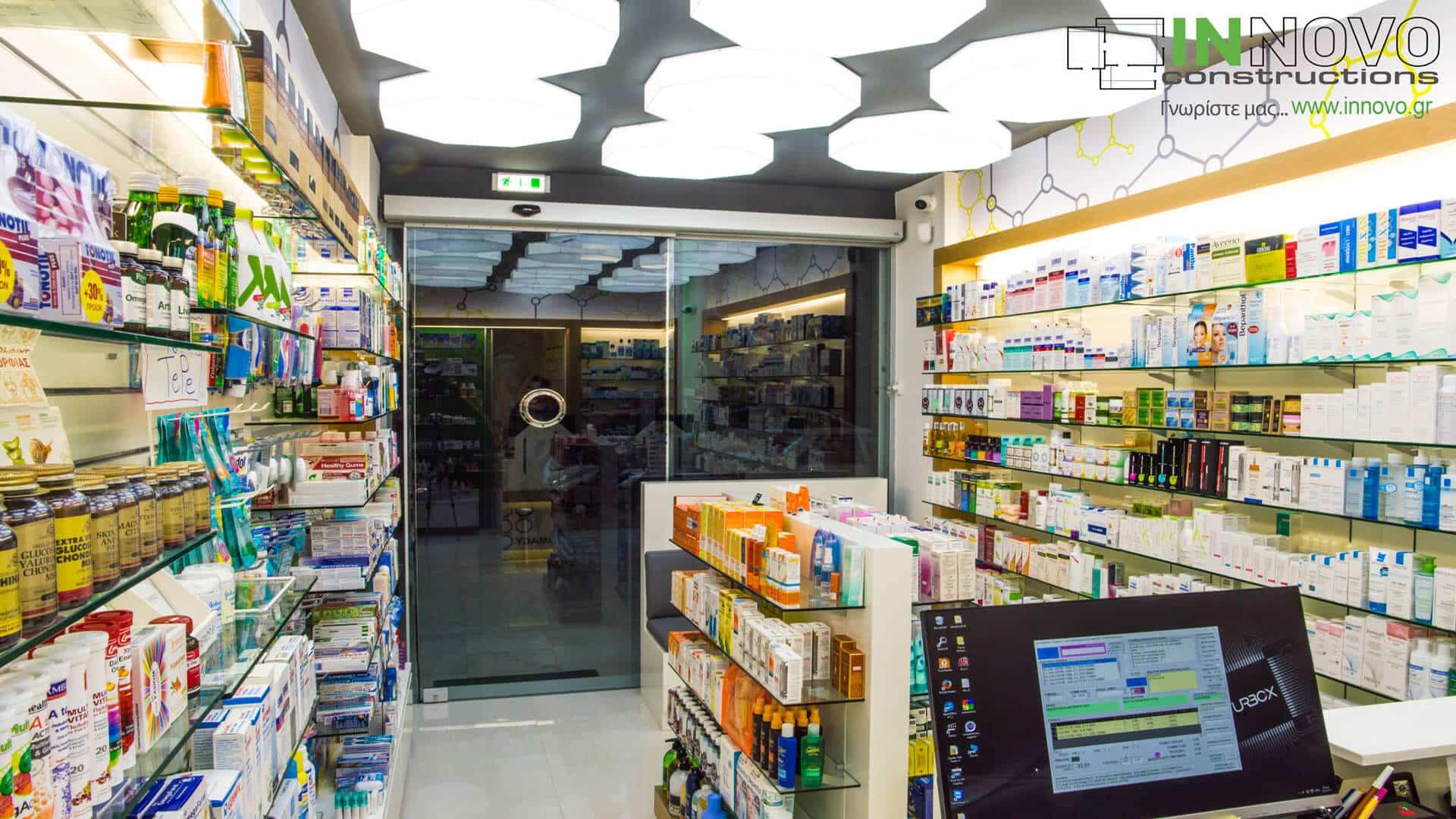 Σχεδιασμός φαρμακείου Γλυφάδα