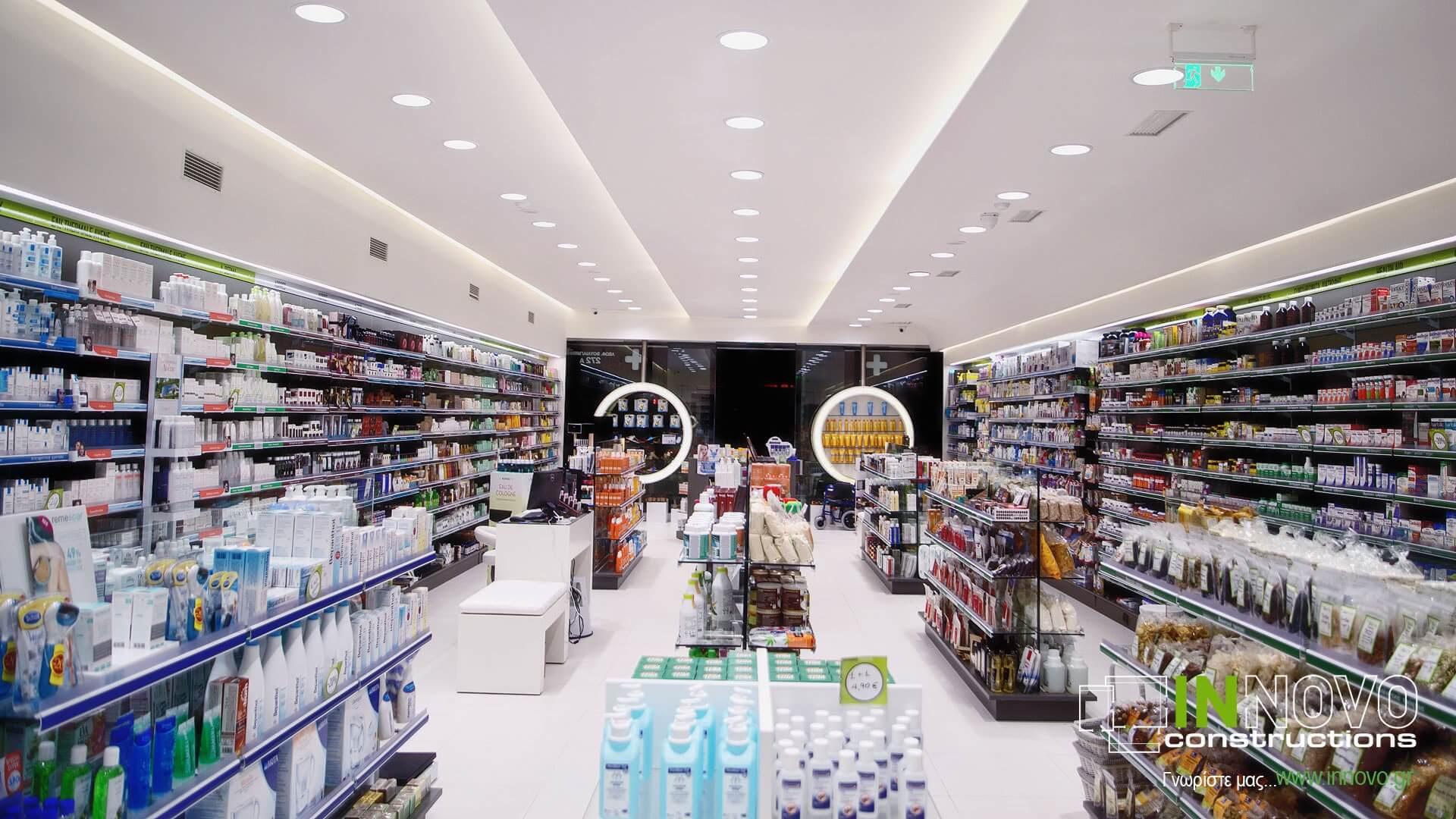 Κατασκευή Φαρμακείου στον Άγιο Δημήτριο από την Innovo Constructions