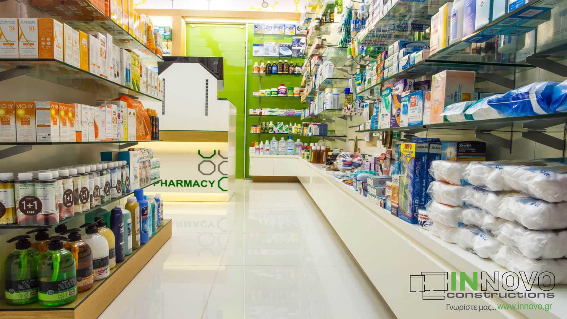 Ανακαινίσεις κατασκευές φαρμακείων Γλυφάδα
