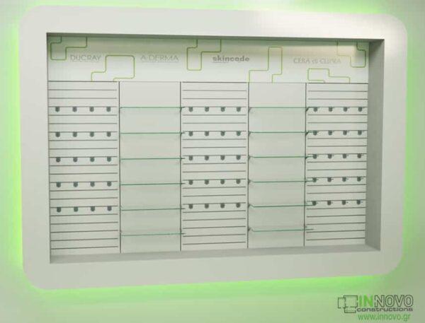 Βιτρίνες φαρμακείων D Elikon green LED
