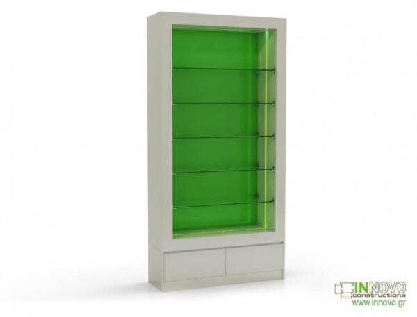 Βιτρίνες φαρμακείων D Evnomia B green back