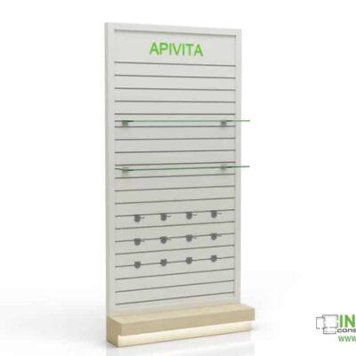 Βιτρίνες φαρμακείων D Ipoliti white-wood