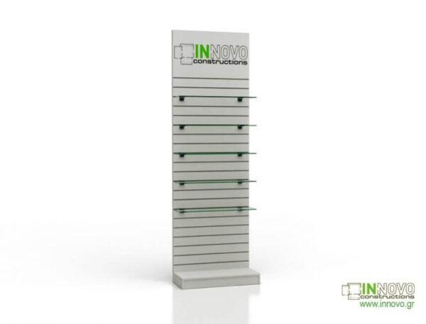 Βιτρίνα φαρμακείου D-Standard-Slat-Lightbox