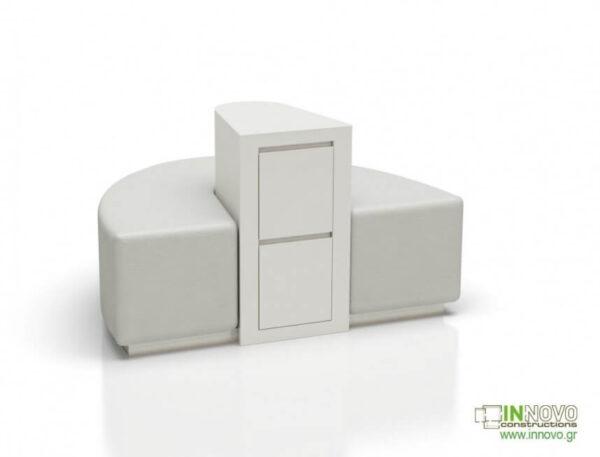 Καθιστικά φαρμακείου S-Kimon white back