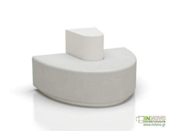 Καθιστικά φαρμακείου S-Kimon white front