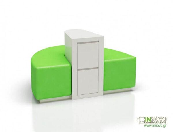 Καθιστικά φαρμακείου S-Kimon green back