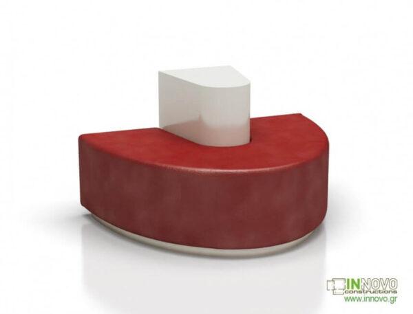 Καθιστικά φαρμακείου S-Kimon A red front