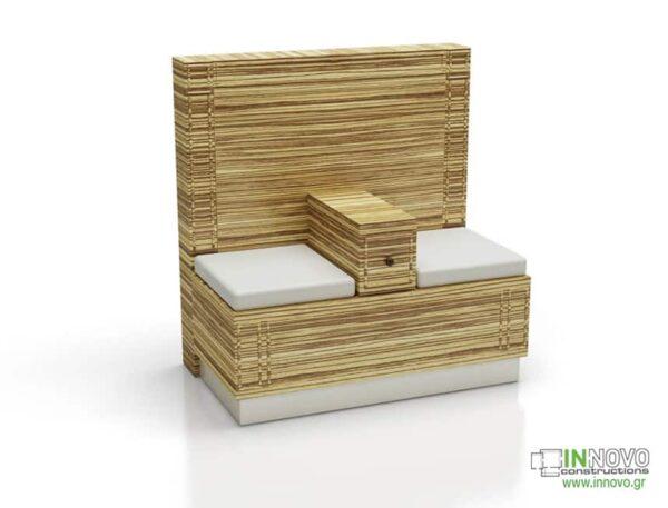 Καθιστικό φαρμακείου S Lumi Patina wood
