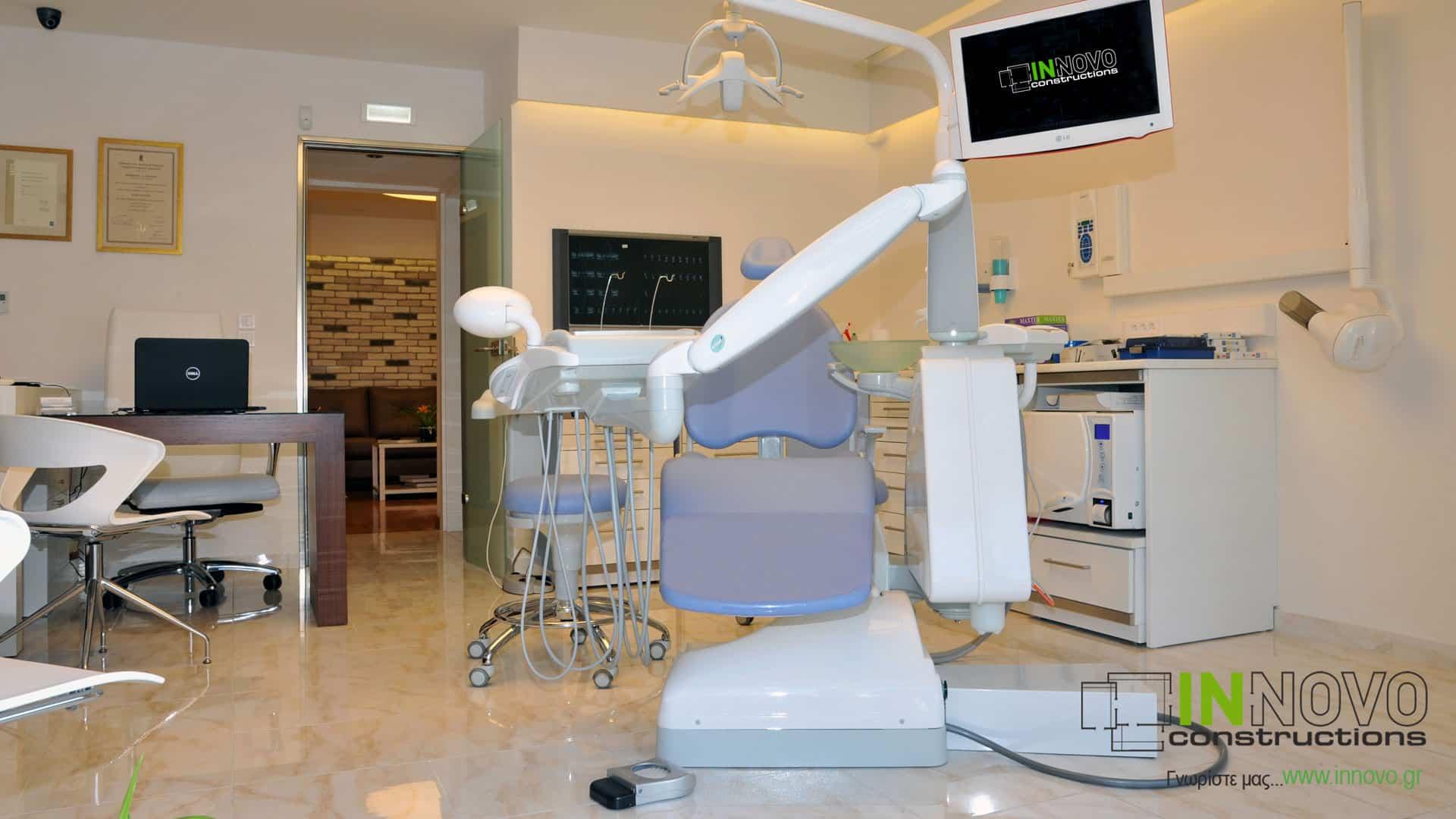 Κατασκευή ανακαίνιση Οδοντιατρείου στο Παλαιό Φάληρο