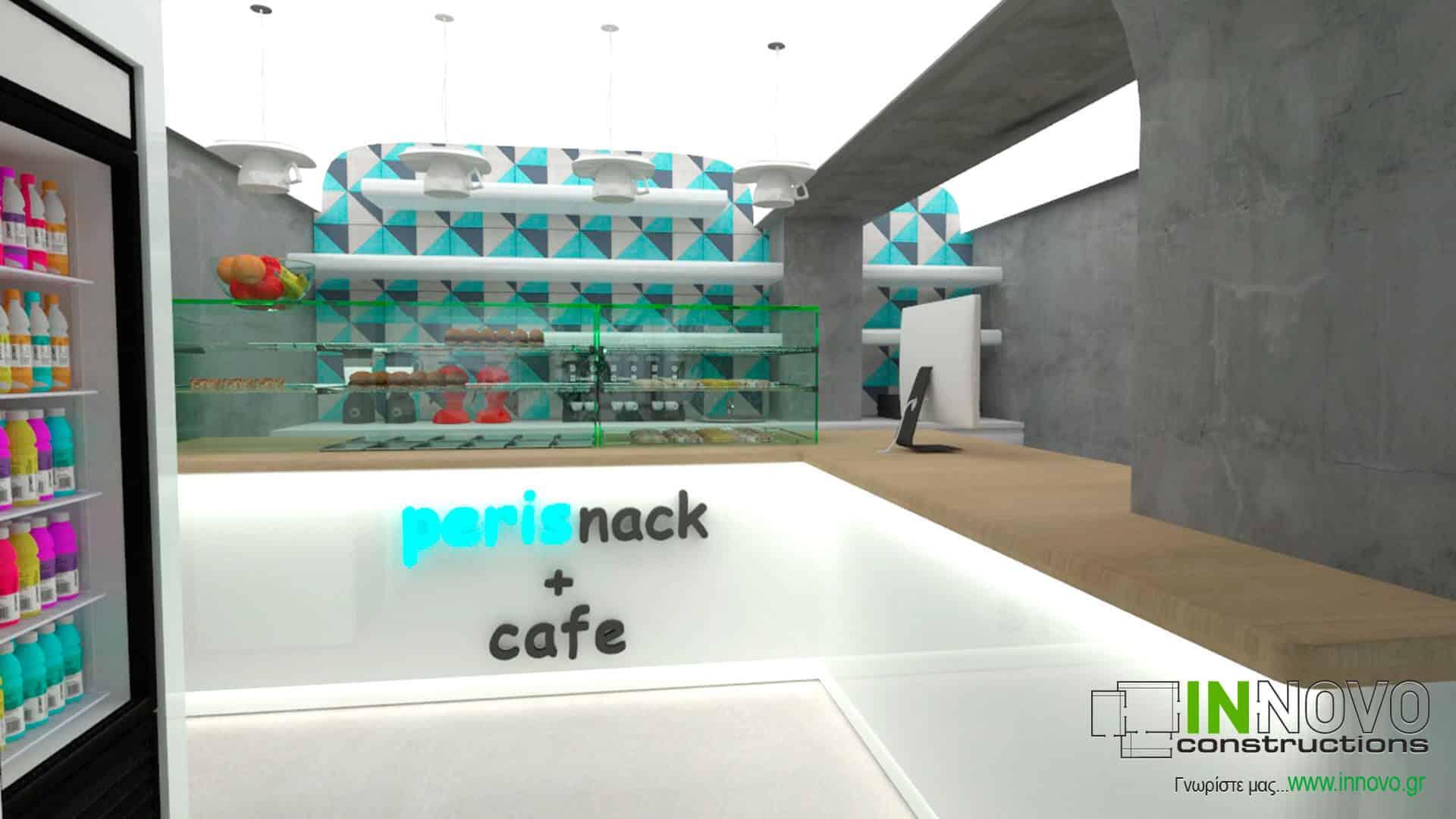 Μελέτη ανακαίνισης σνακ – καφέ – μάρκετ στη Σαντορίνη