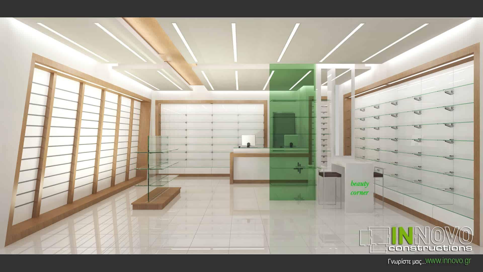 Μελέτη ανακαίνισης φαρμακείου στην Αθήνα