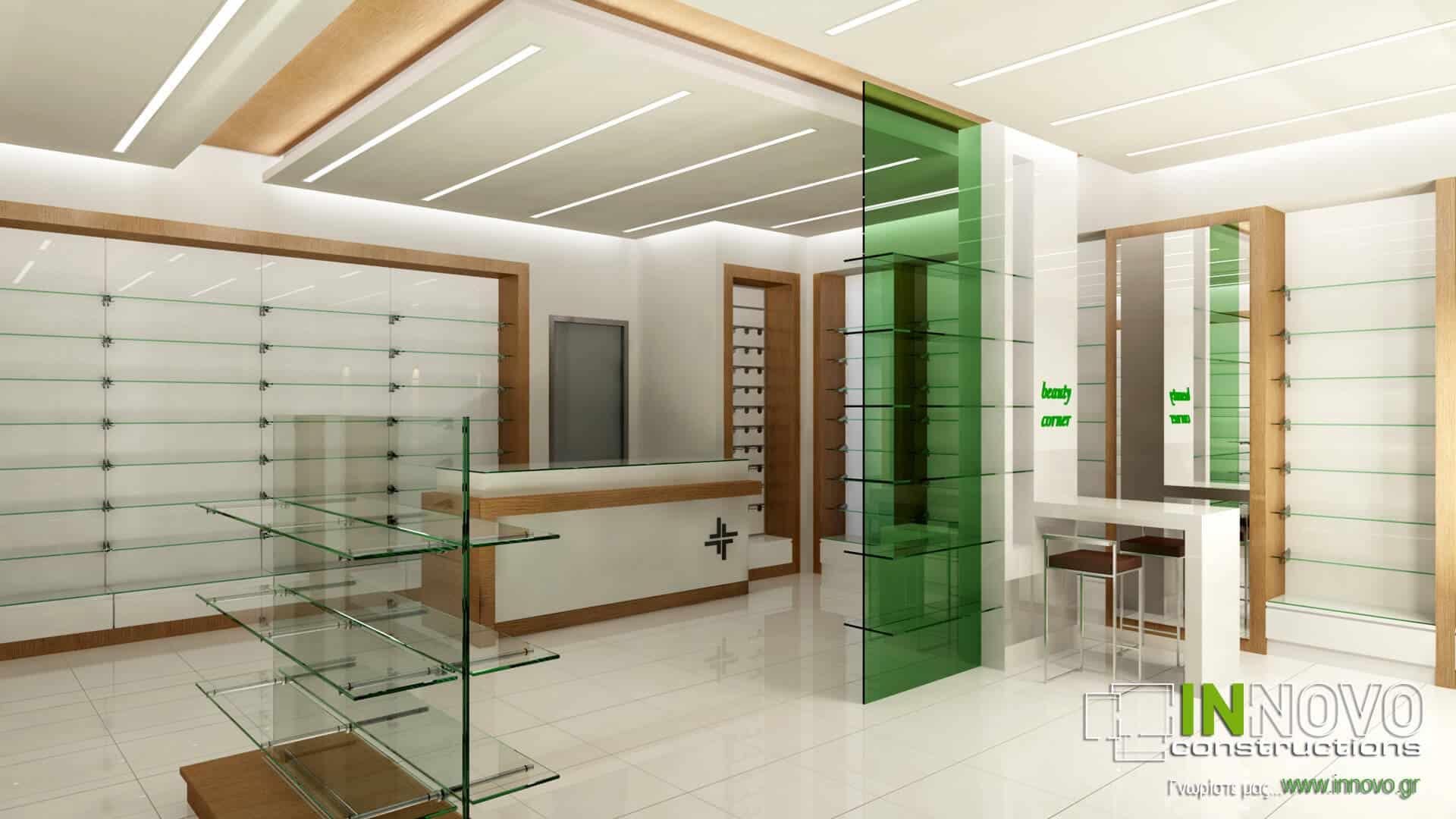 Μελέτη σχεδιασμός φαρμακείου στην Αθήνα