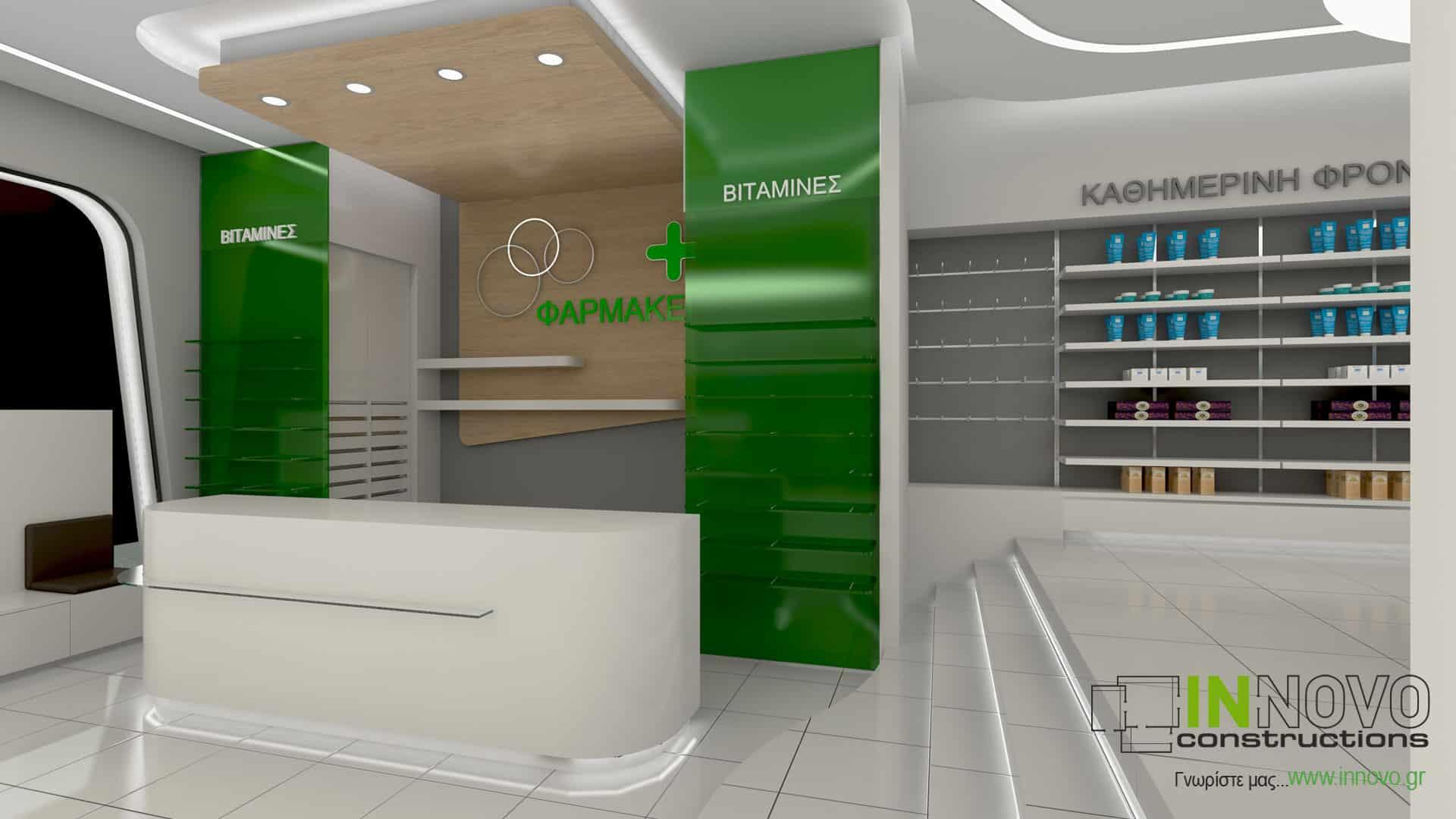 Σχεδιασμός κατασκευής φαρμακείου στην Ελευσίνα