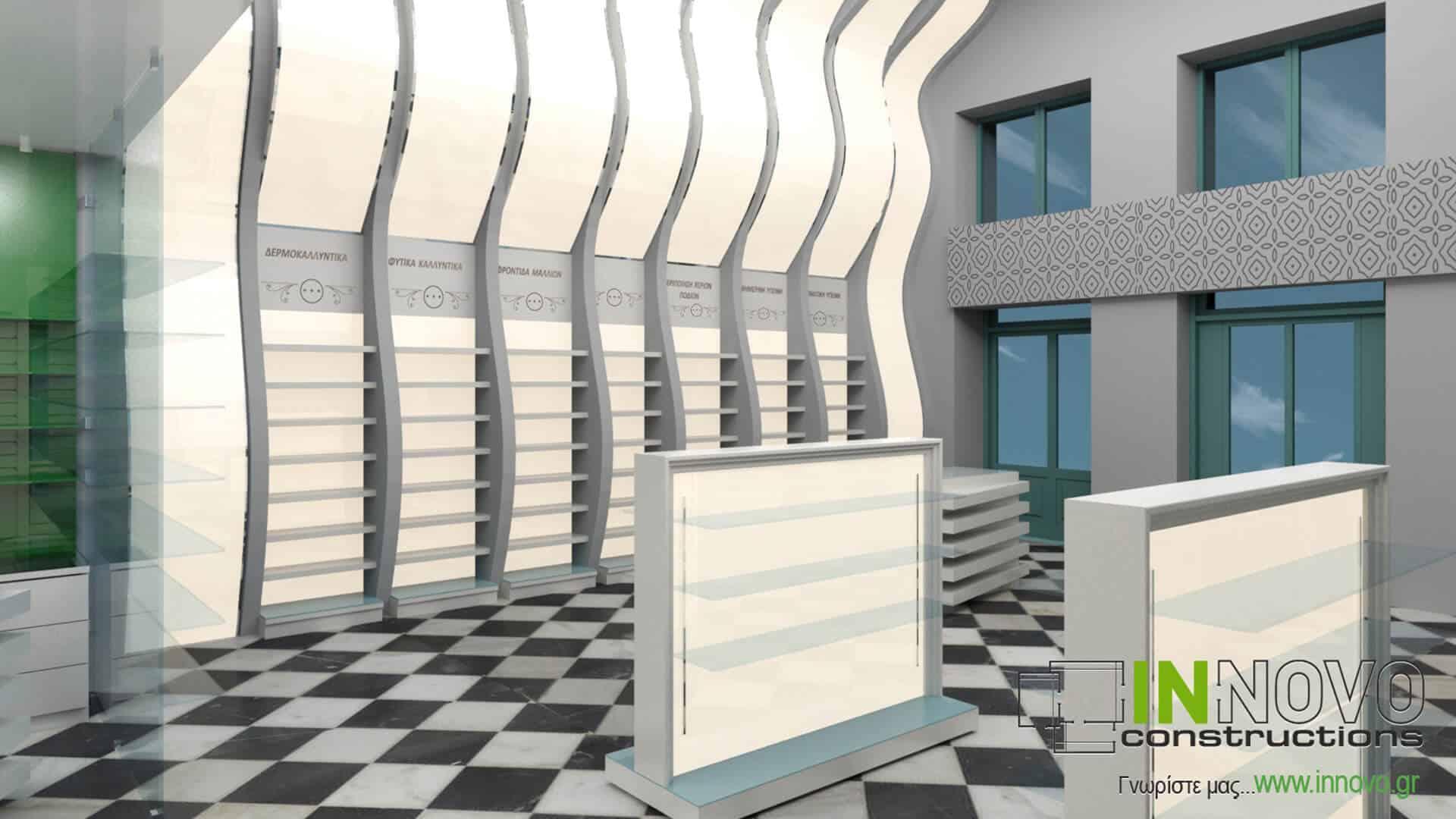 Από την Constructions, σχεδιασμός εξοπλισμού φαρμακείου στον Πειραιά