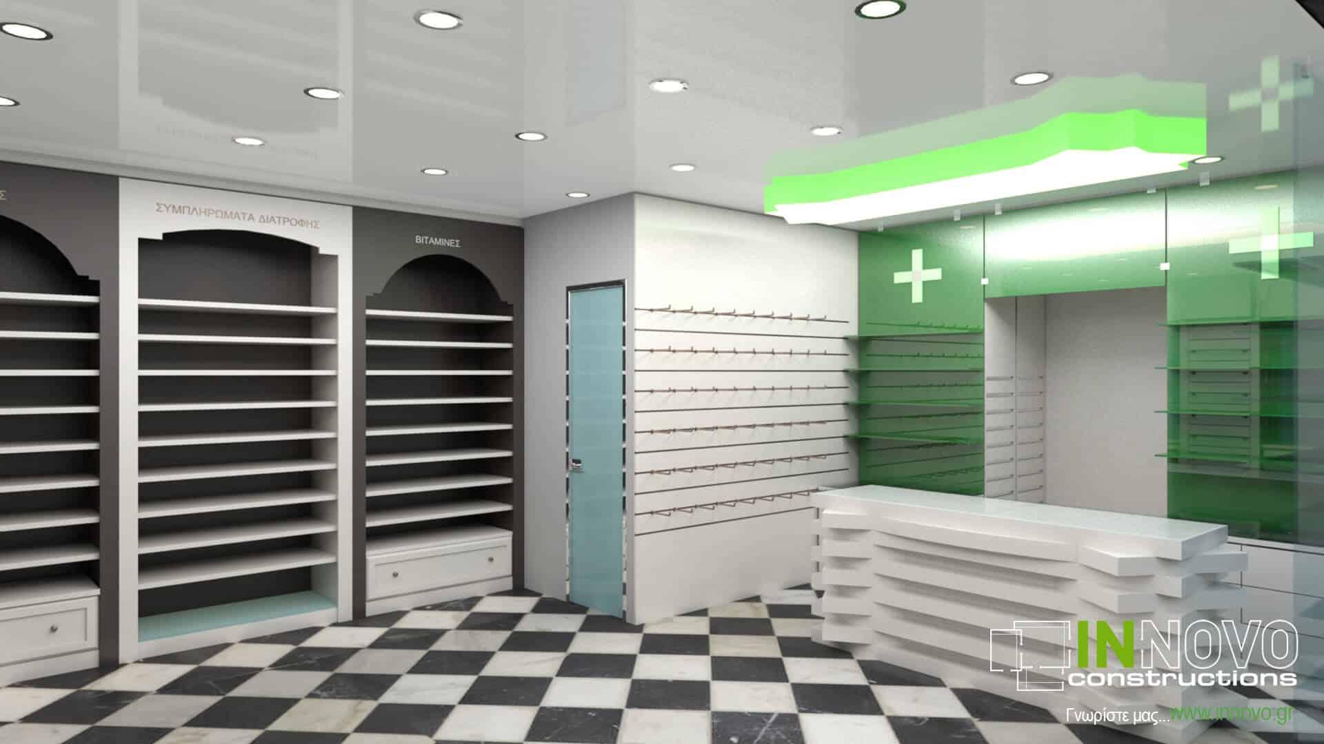 Από την Constructions, Μελέτη φαρμακείου στον Πειραιά