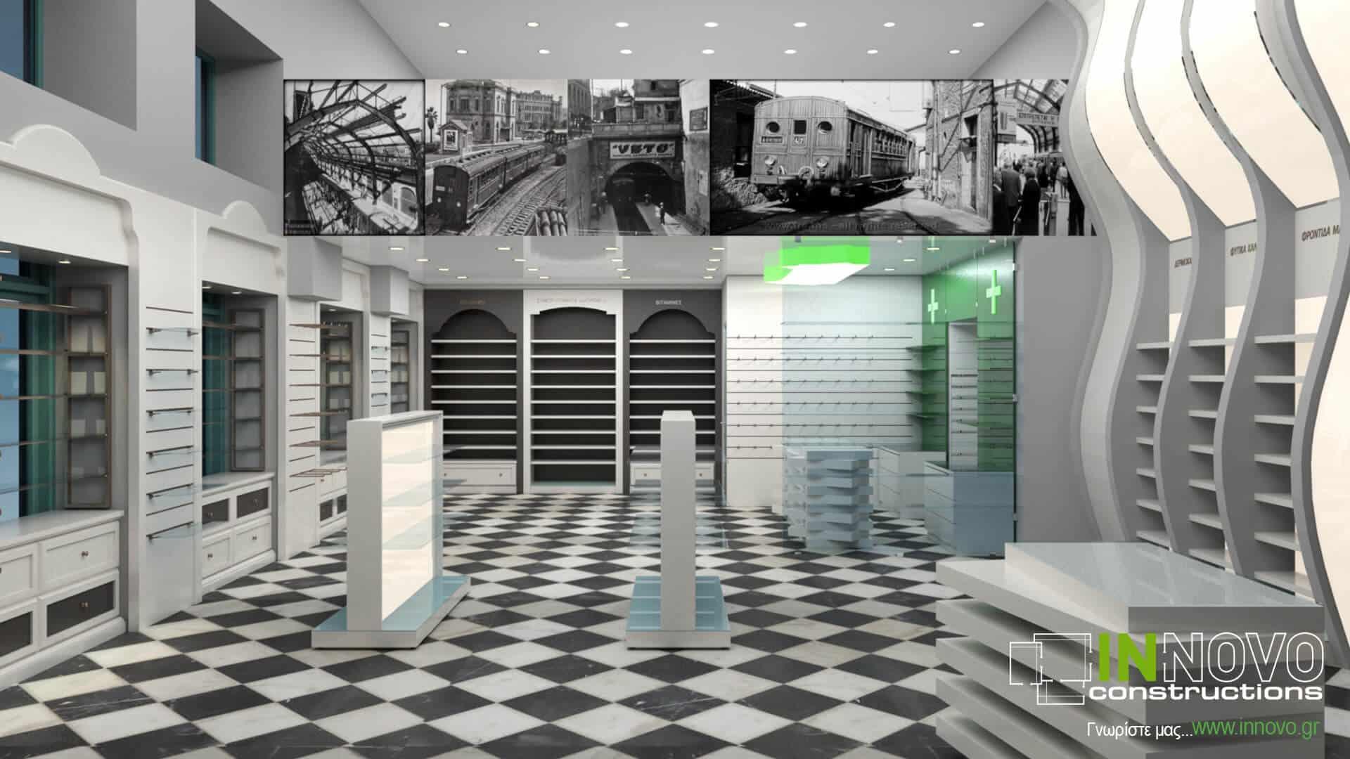 Από την Constructions, ανακαίνιση και διακόσμηση φαρμακείου στον Πειραιά