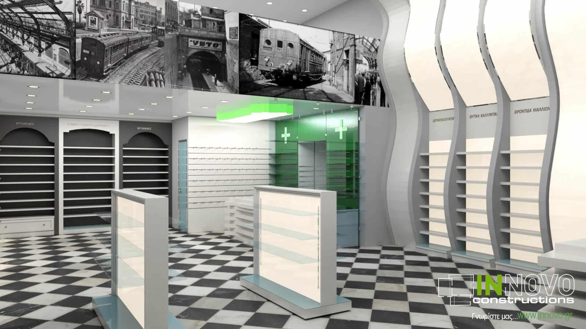 Από την Constructions, ανακαίνιση και κατασκευή φαρμακείου στον Πειραιά