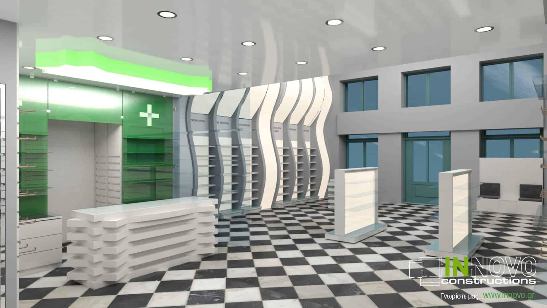 Από την Constructions, σχεδιασμός φαρμακείου στον Πειραιά