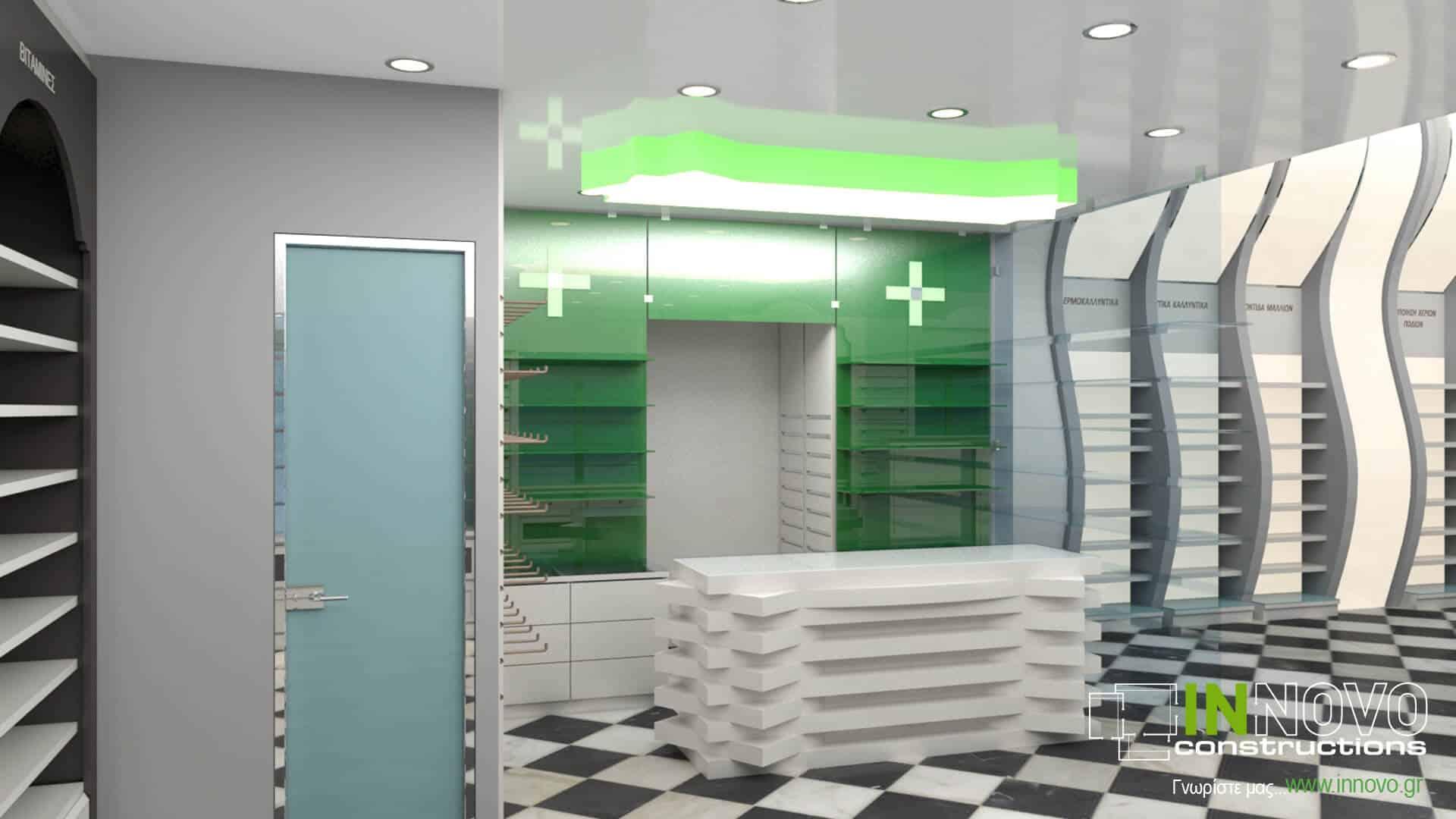 Από την Constructions, κατασκευή και ανακαίνιση φαρμακείου στον Πειραιά