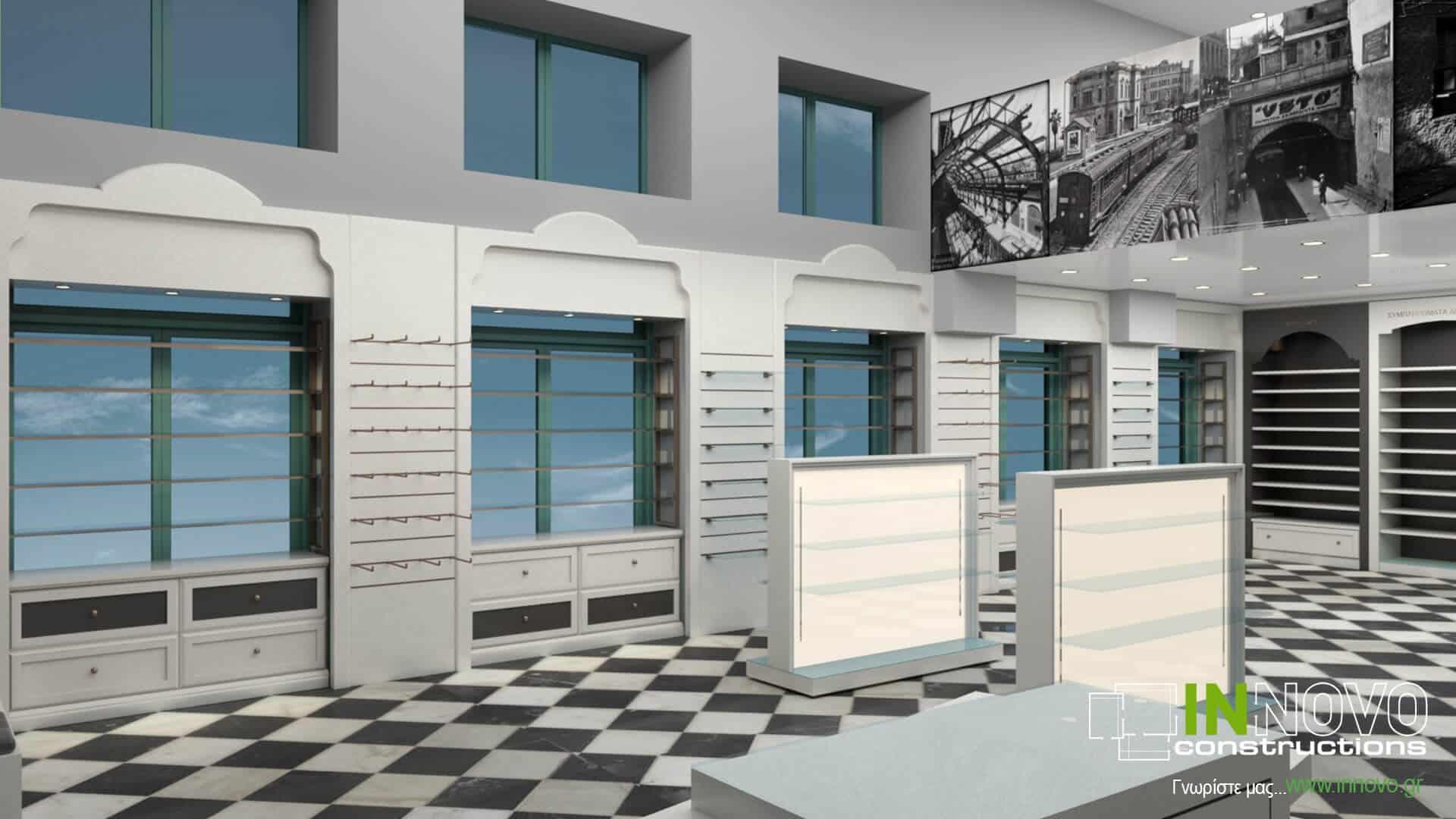 Από την Constructions, σχεδιασμός ανακαίνισης φαρμακείου στον Πειραιά