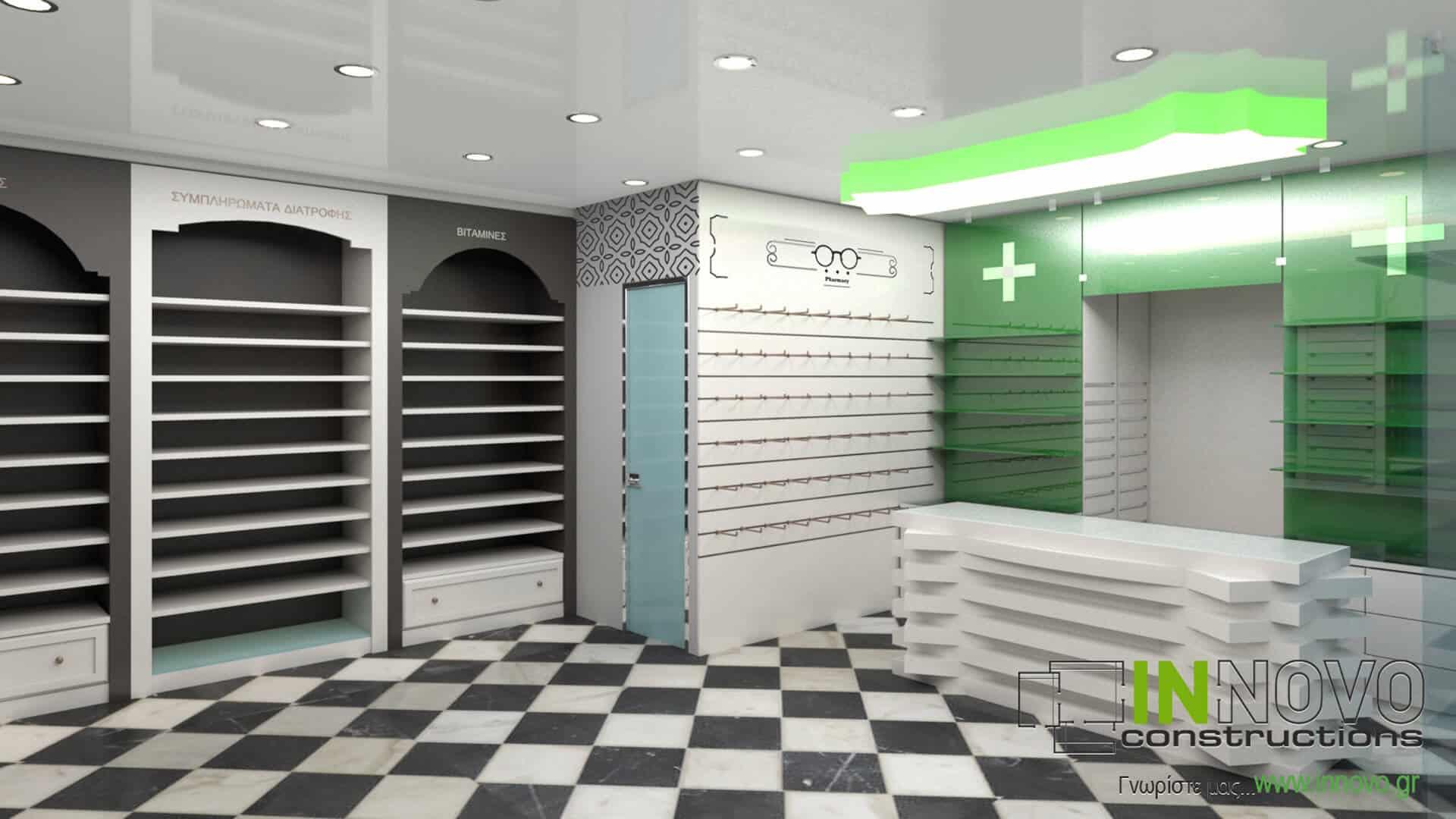 Από την Constructions, σχεδιασμός μελέτης φαρμακείου στον Πειραιά